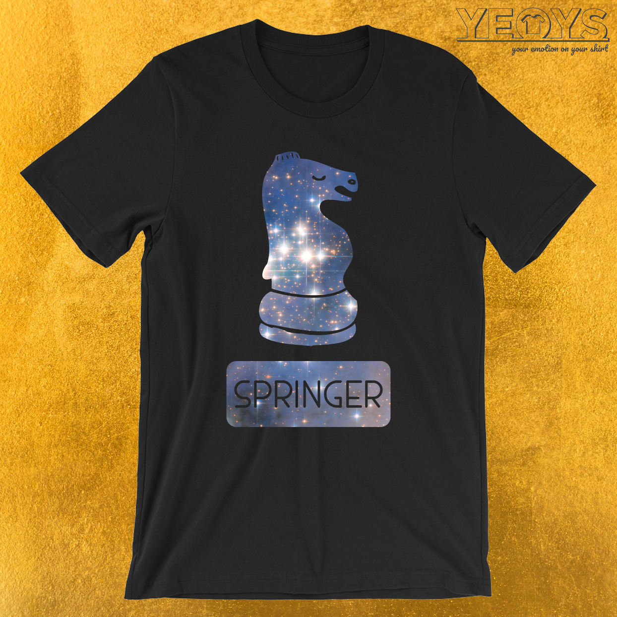 Schachfigur Springer Galaxie T-Shirt