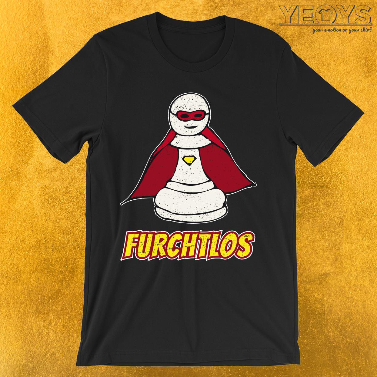 Furchtlose Superheld Bauern Schach Figur T-Shirt