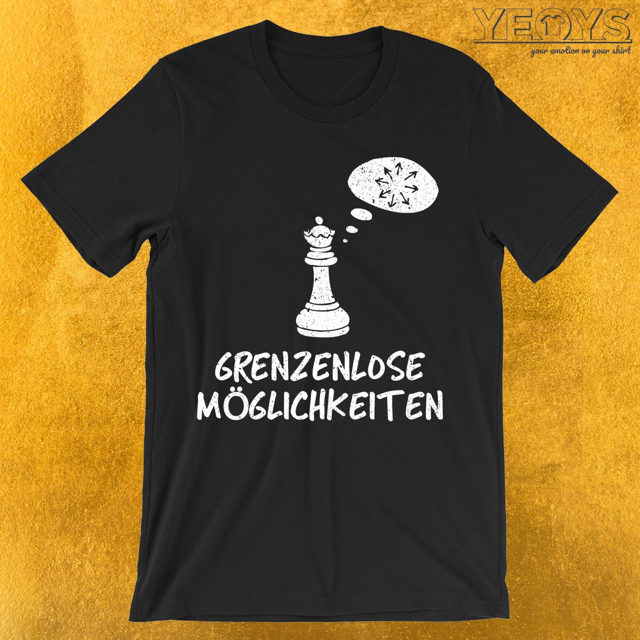 Grenzenlose Möglichkeiten König Schach Figur T-Shirt