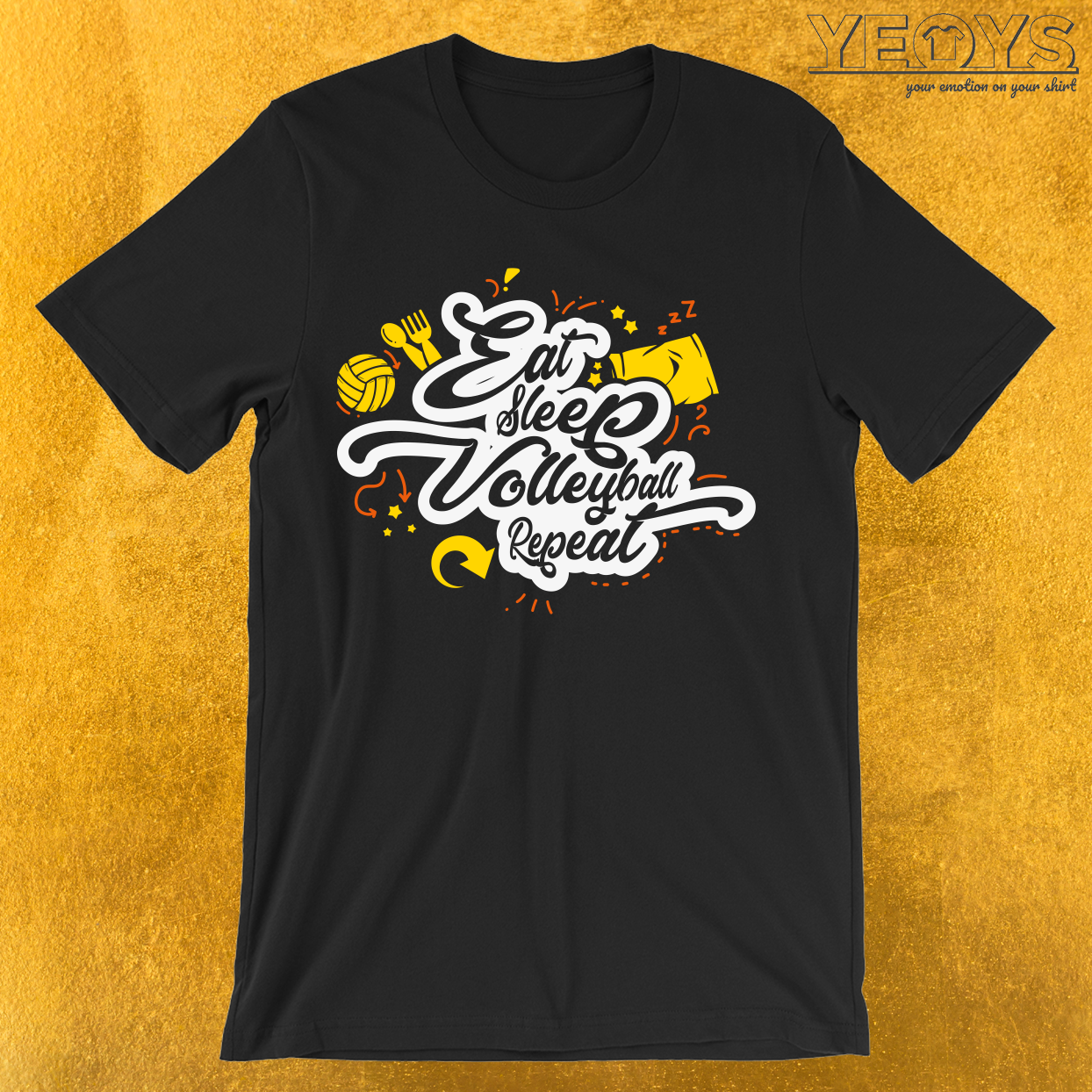 Eat Sleep Volleyball Repeat T-Shirt