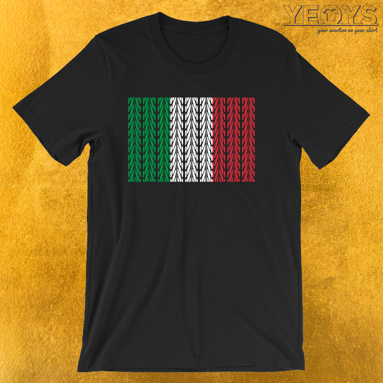 Italy Flag Mountainbike – Funny Bike Quote Tee