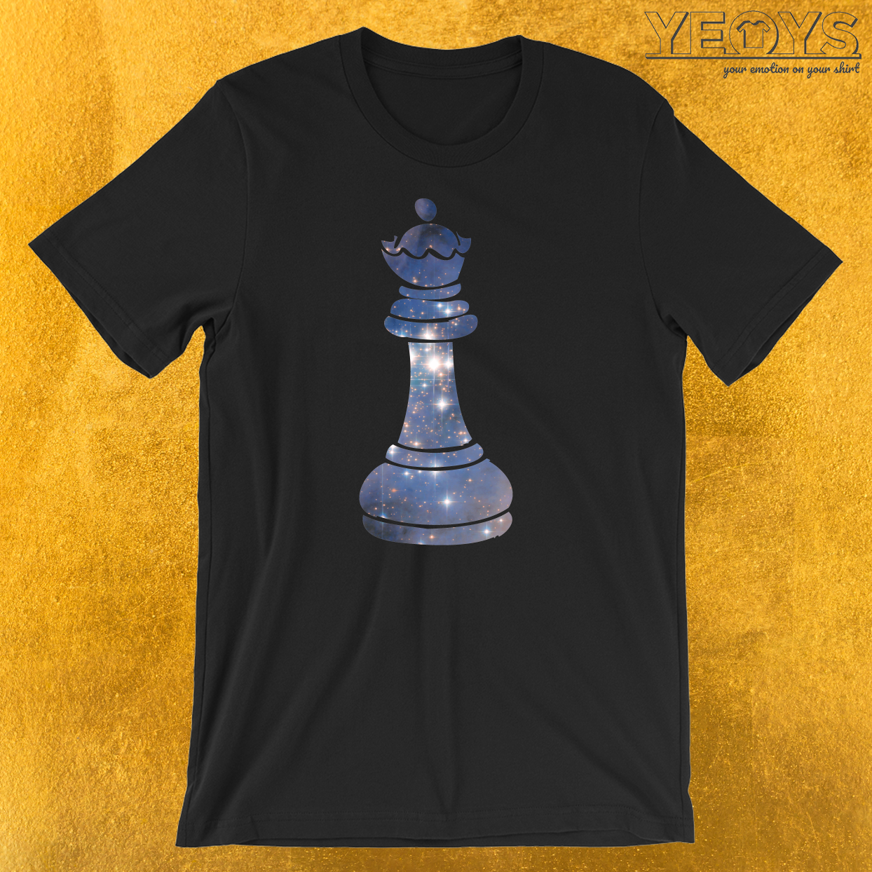 Queen Chess Piece Starry Night Galaxy T-Shirt