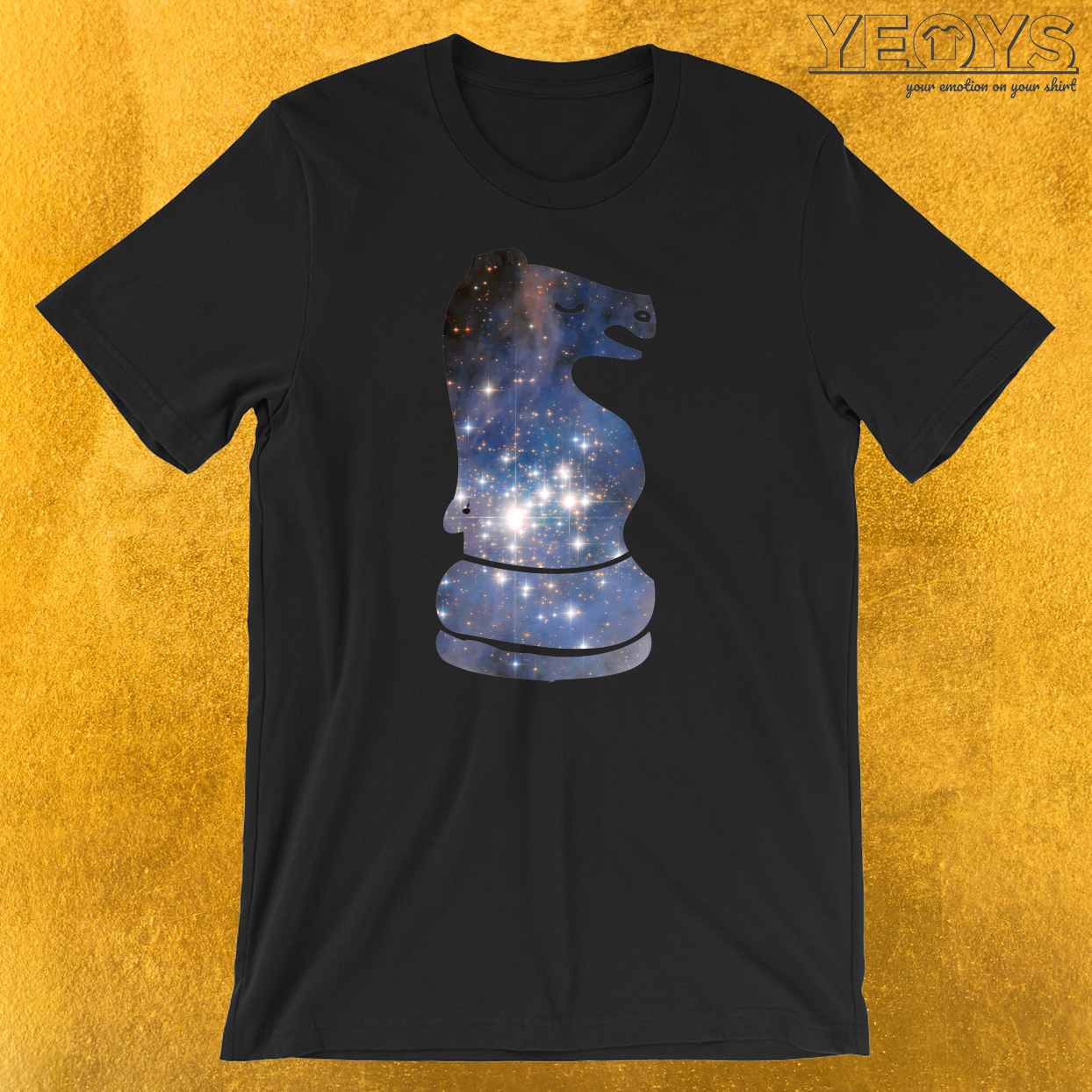 Knight Chess Piece Starry Night Galaxy T-Shirt