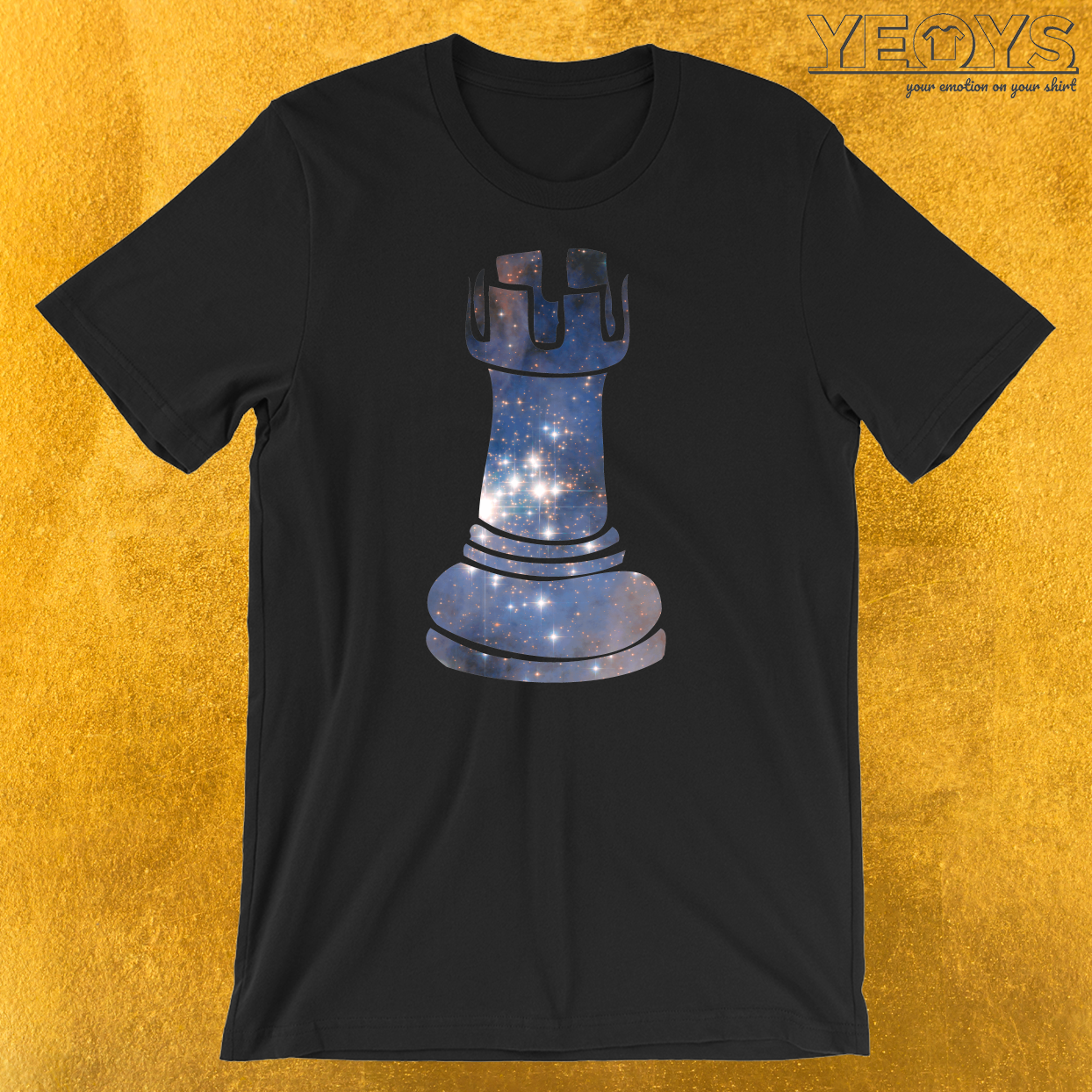 Rook Chess Piece Starry Night Galaxy T-Shirt