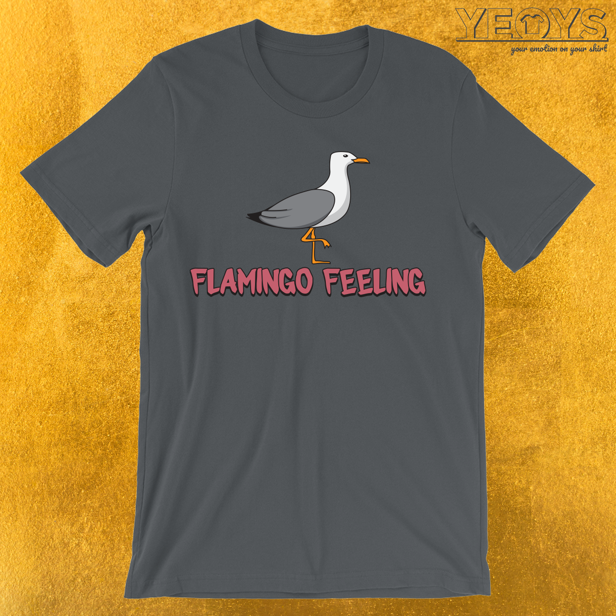 Seagull Loves Flamingo Feeling T-Shirt