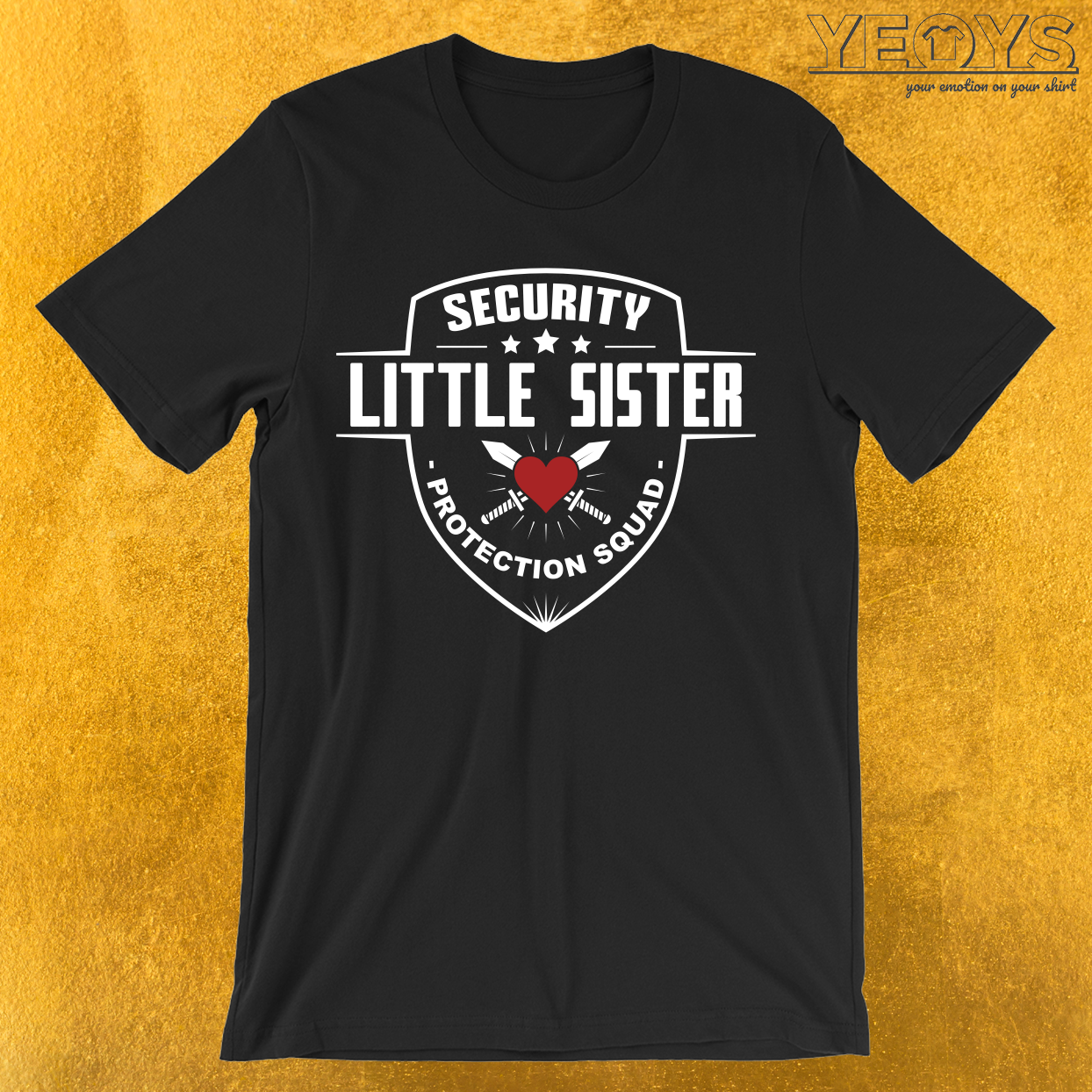 Security Little Sister Protection Squad T-Shirt