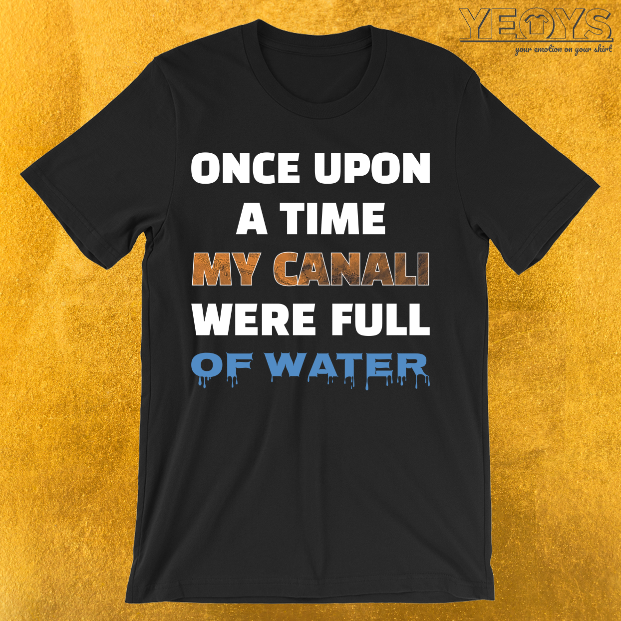 Once Upon A Time My Canali Were Full Of Water T-Shirt