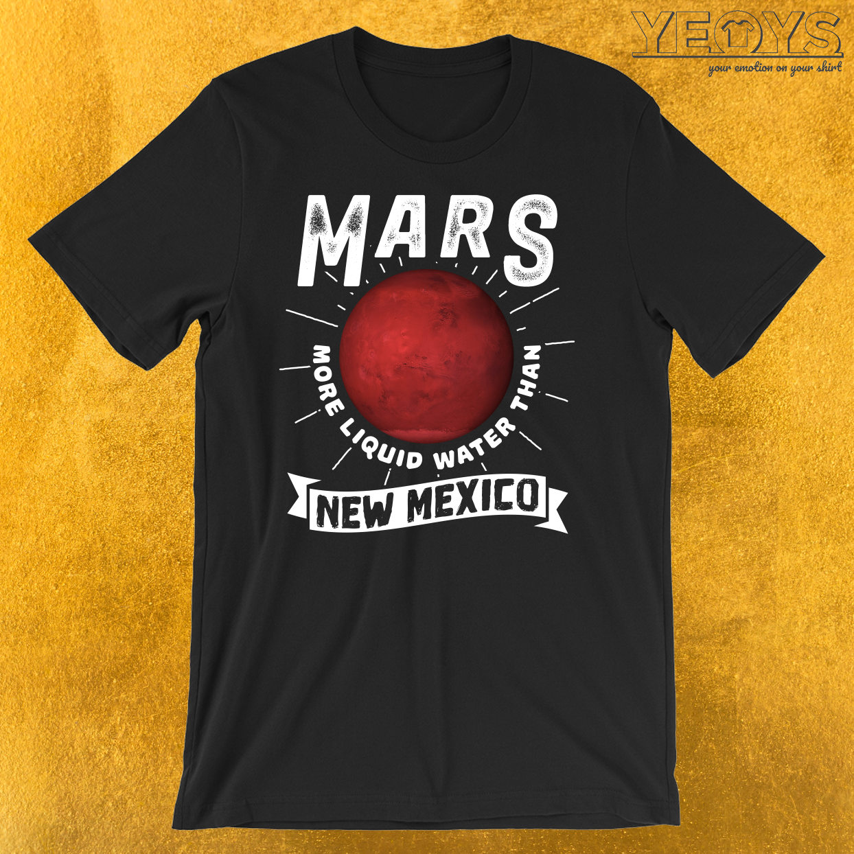 Mars More Liquid Water Than New Mexico T-Shirt