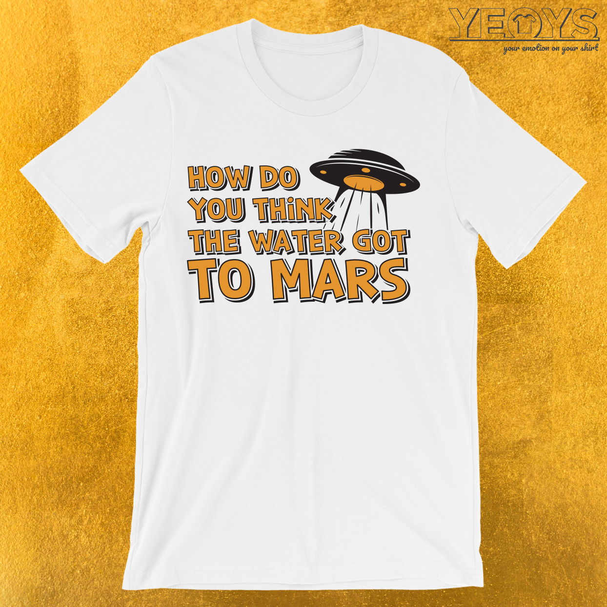 How Do You Think The Water Got To Mars UFO T-Shirt