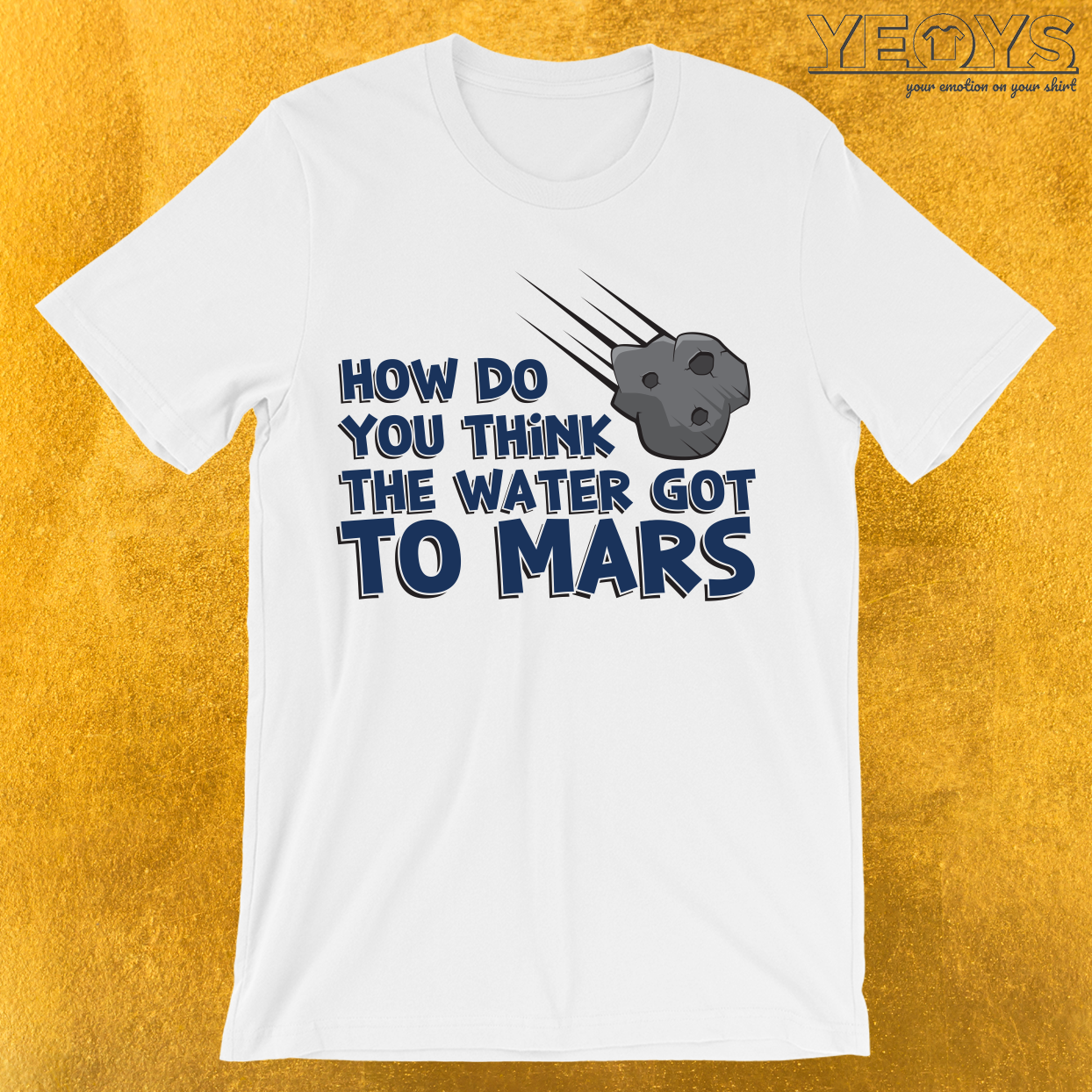 How Do You Think The Water Got To Mars Asteroid T-Shirt