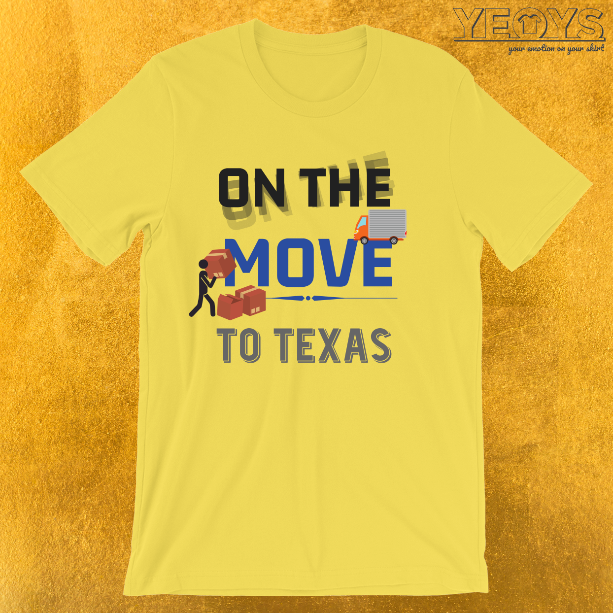 On the Move to Texas Moving State & House T-Shirt