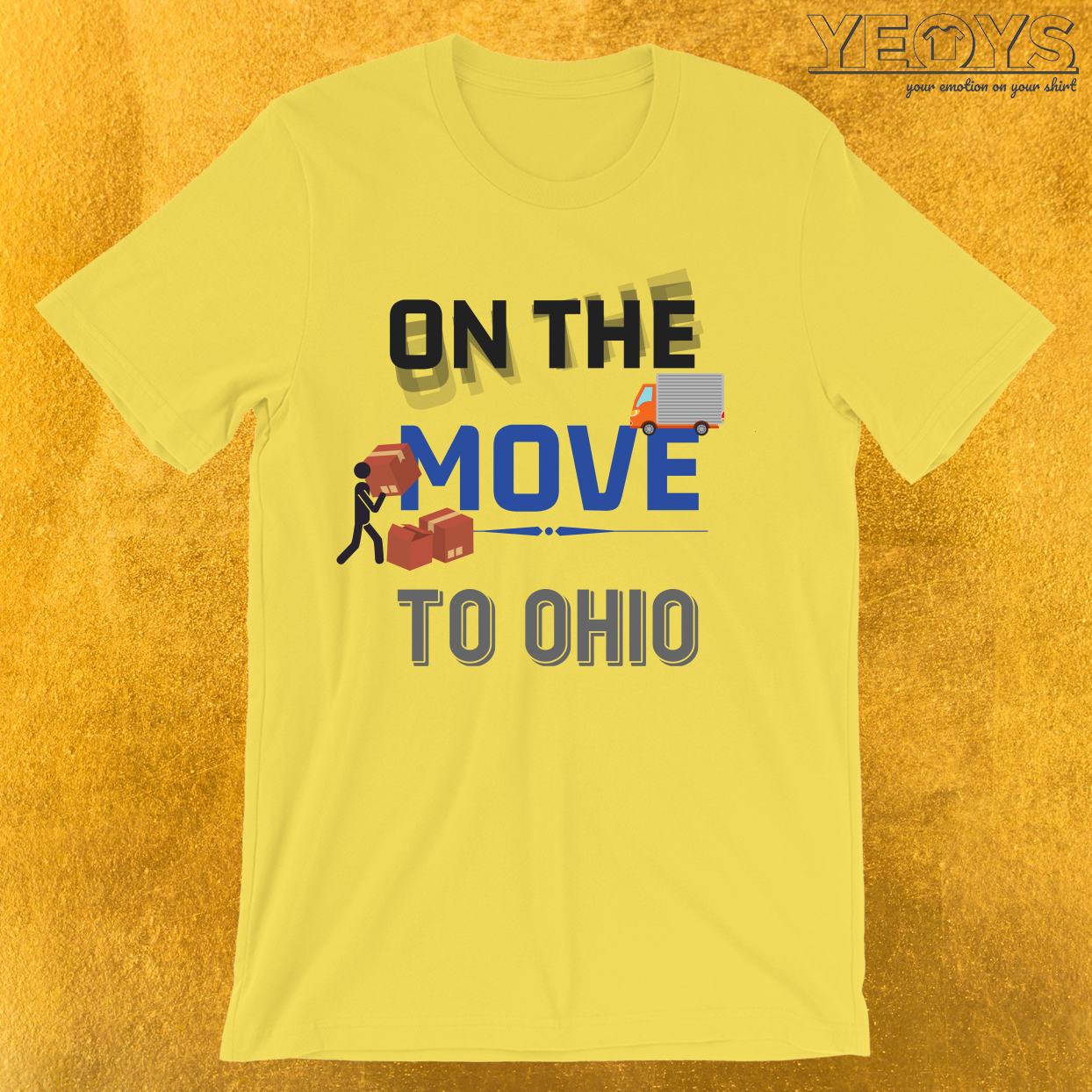 On the Move to Ohio Moving State & House T-Shirt