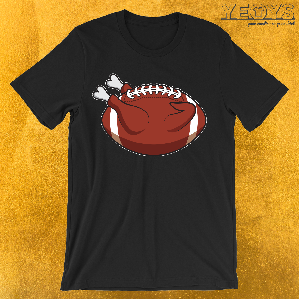 Thanksgiving Turkey Football T-Shirt
