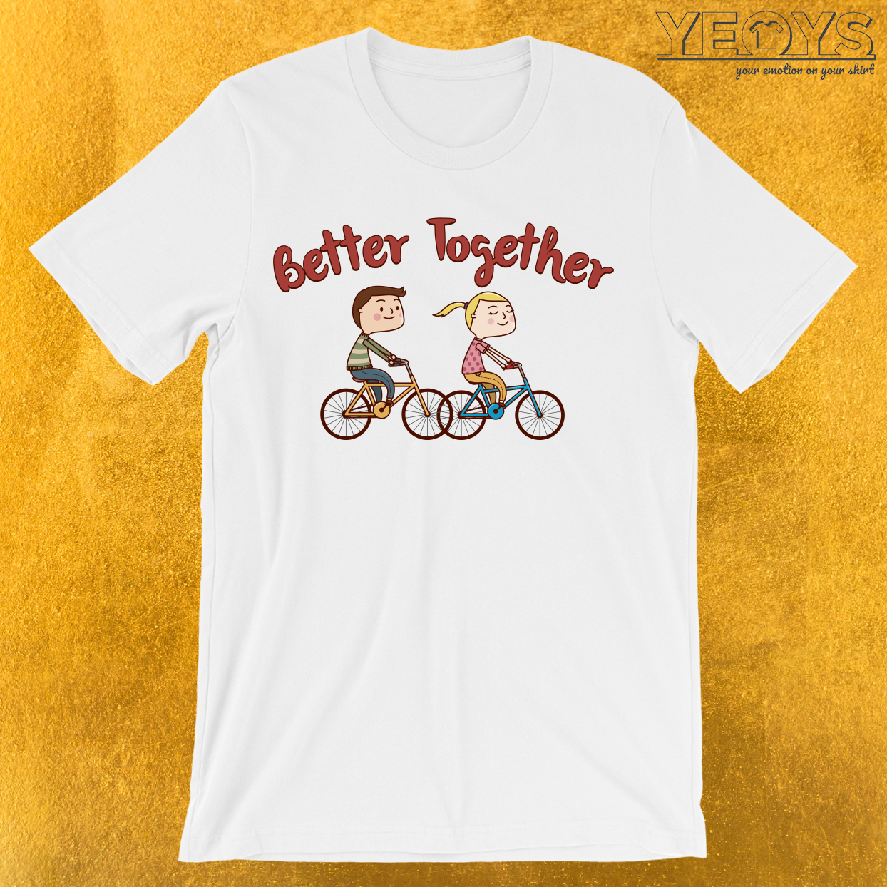 Better Together Biking Couple T-Shirt