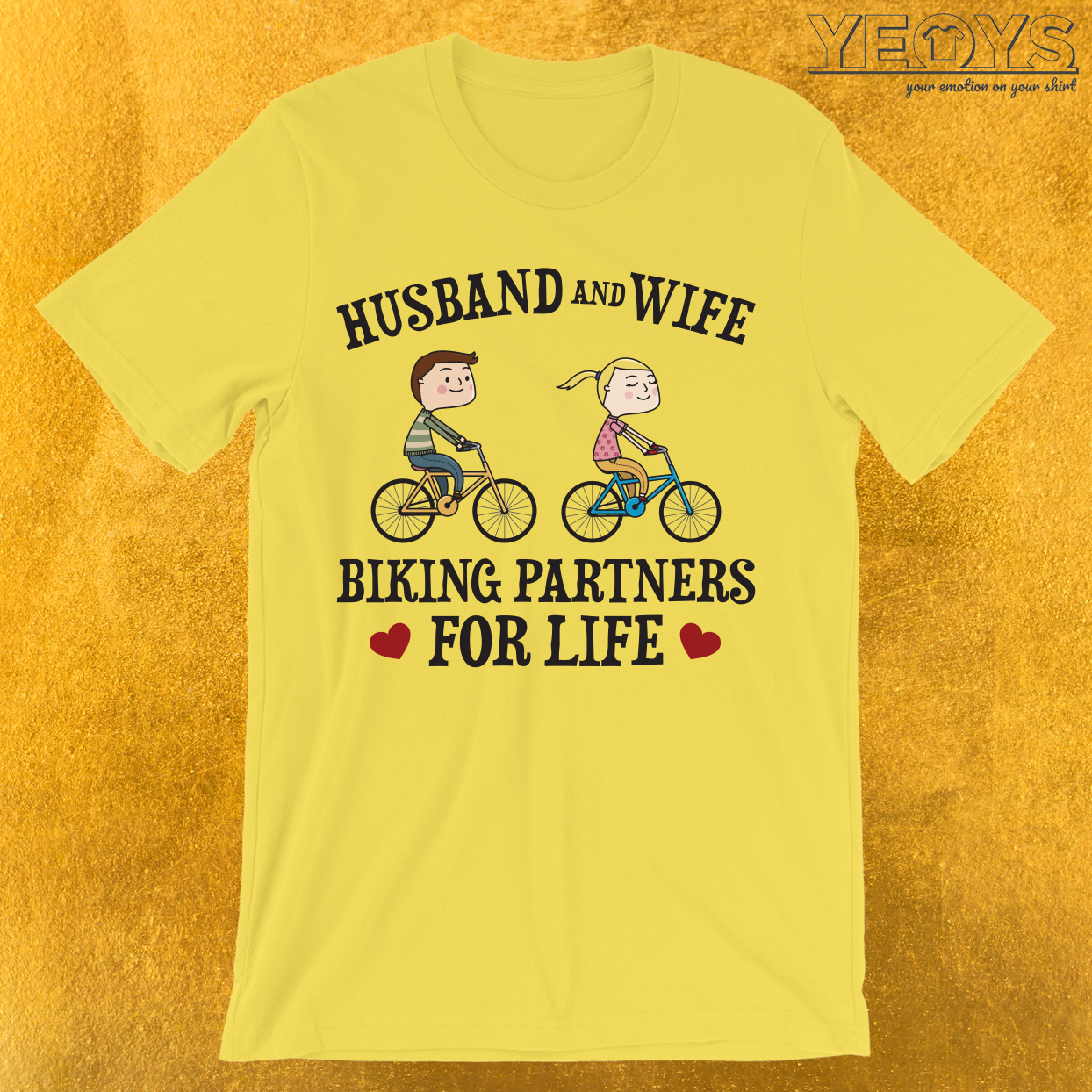 Husband And Wife Biking Partners For Life T-Shirt