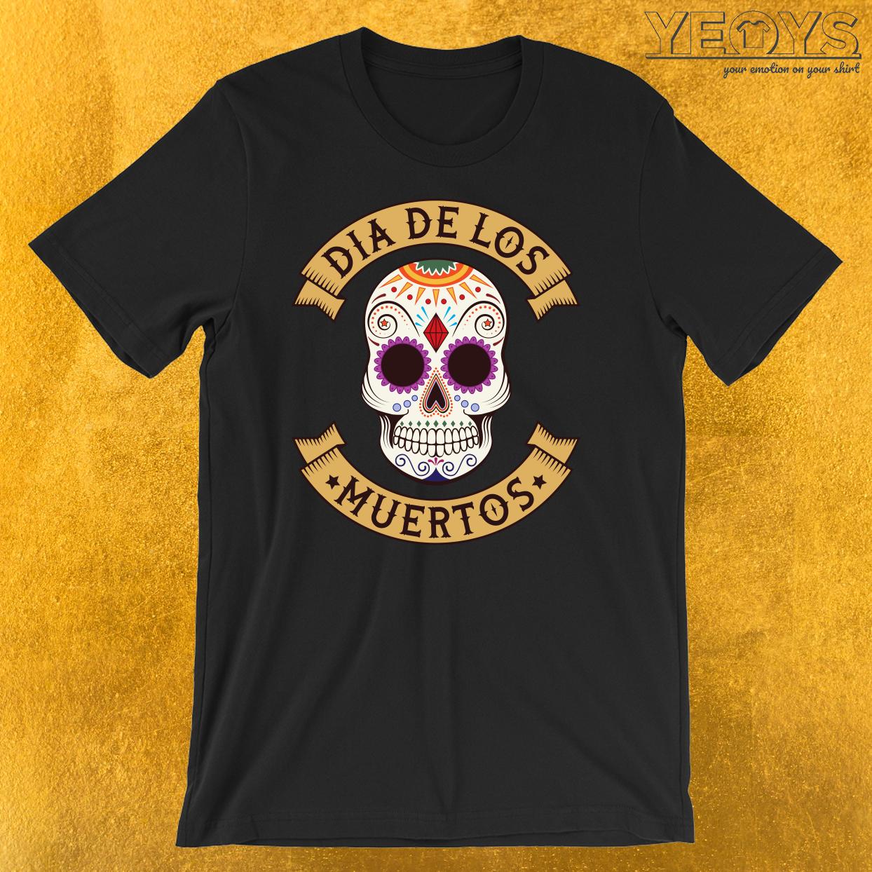 Dios De Los Muertos Skull Head T-Shirt