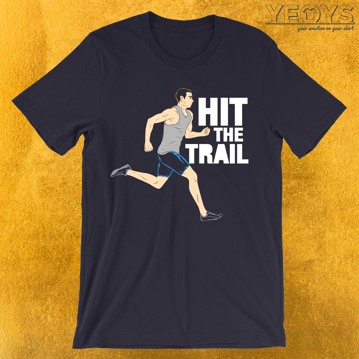 Hit The Trail Running Vintage T-Shirt