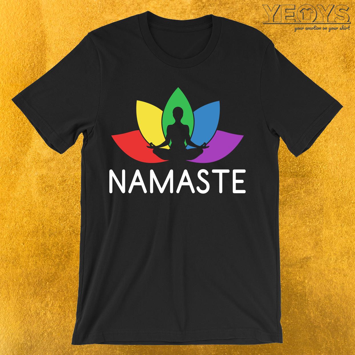 Namaste Lotus Plant T-Shirt