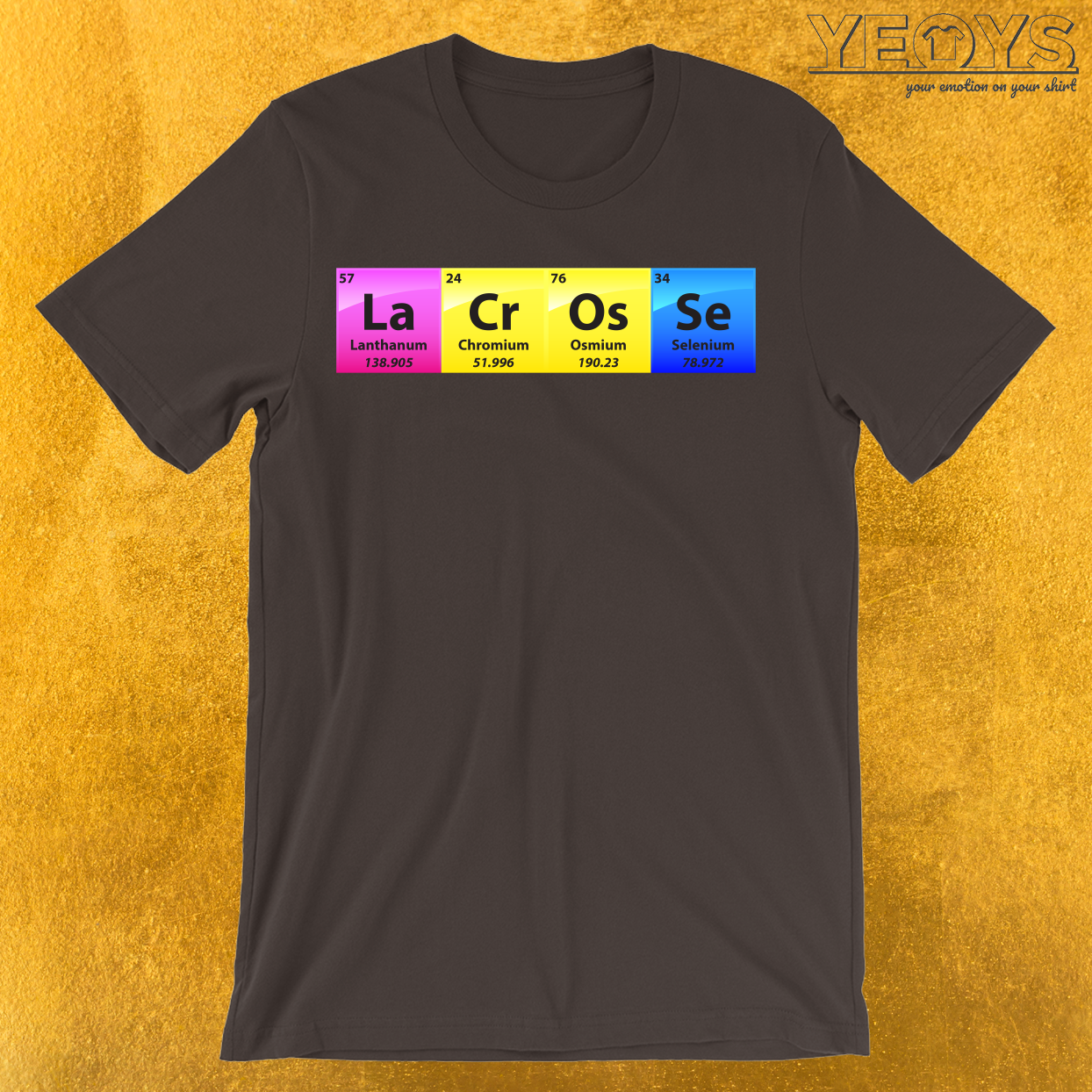 Lacrosse Periodic Table Of Elements T-Shirt