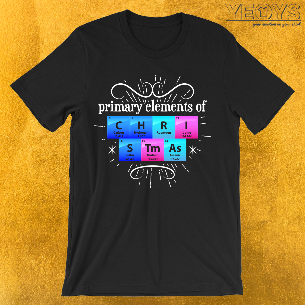 Primary Elements Of Christmas T-Shirt