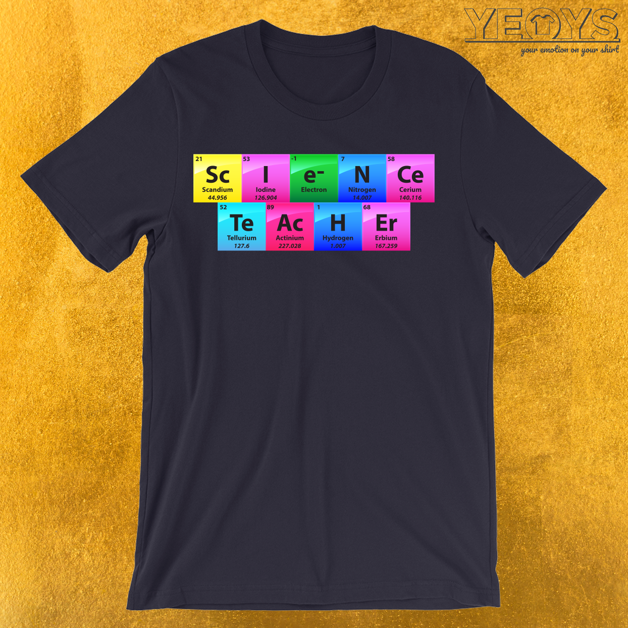 Science Teacher Periodic Table Of Elements T-Shirt