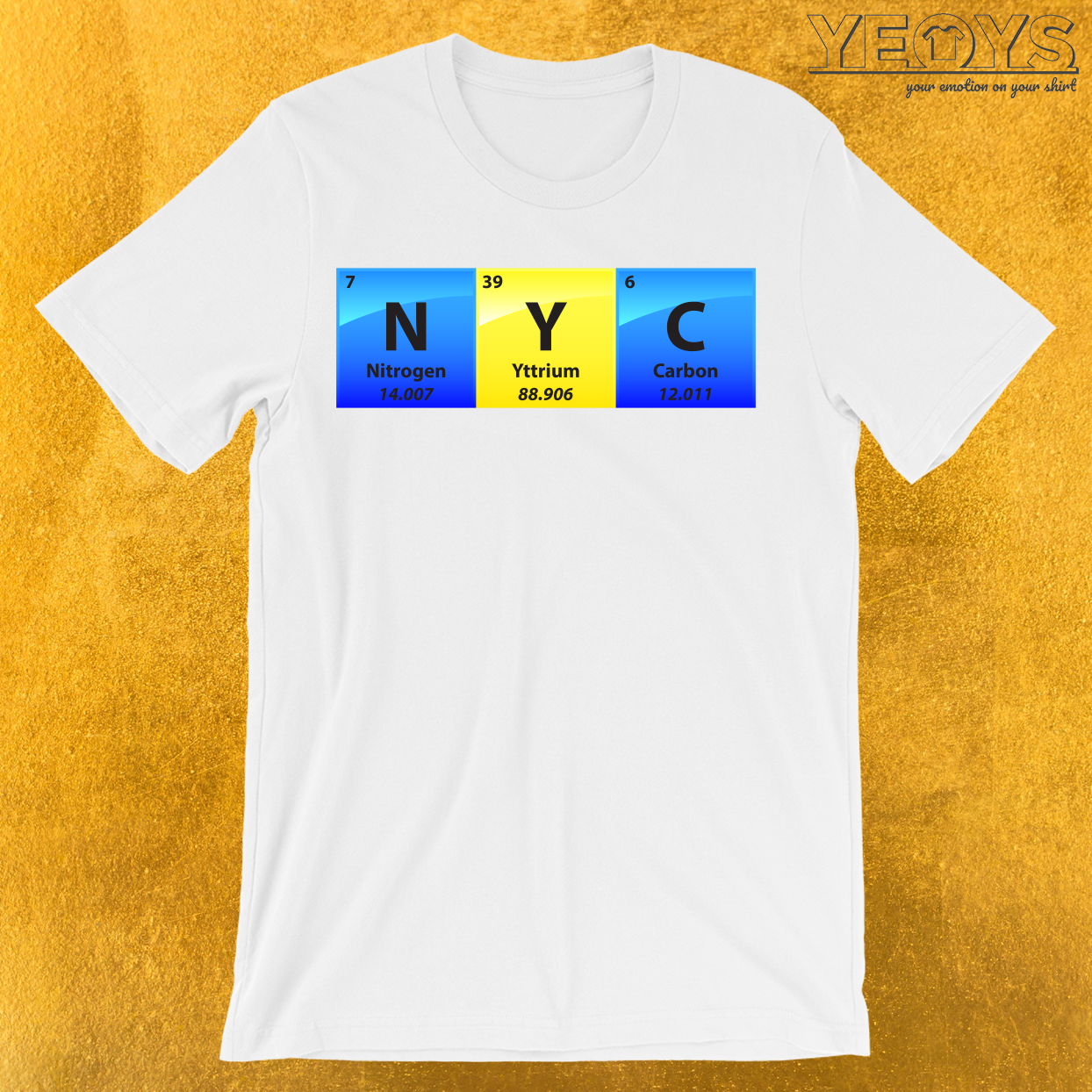 NYC New York City Periodic Table Of Elements T-Shirt