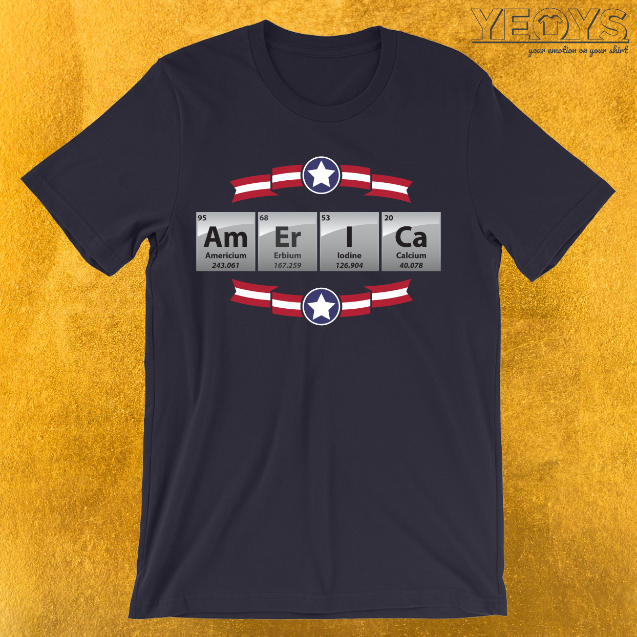United States Of America Periodic Table Of Elements T-Shirt