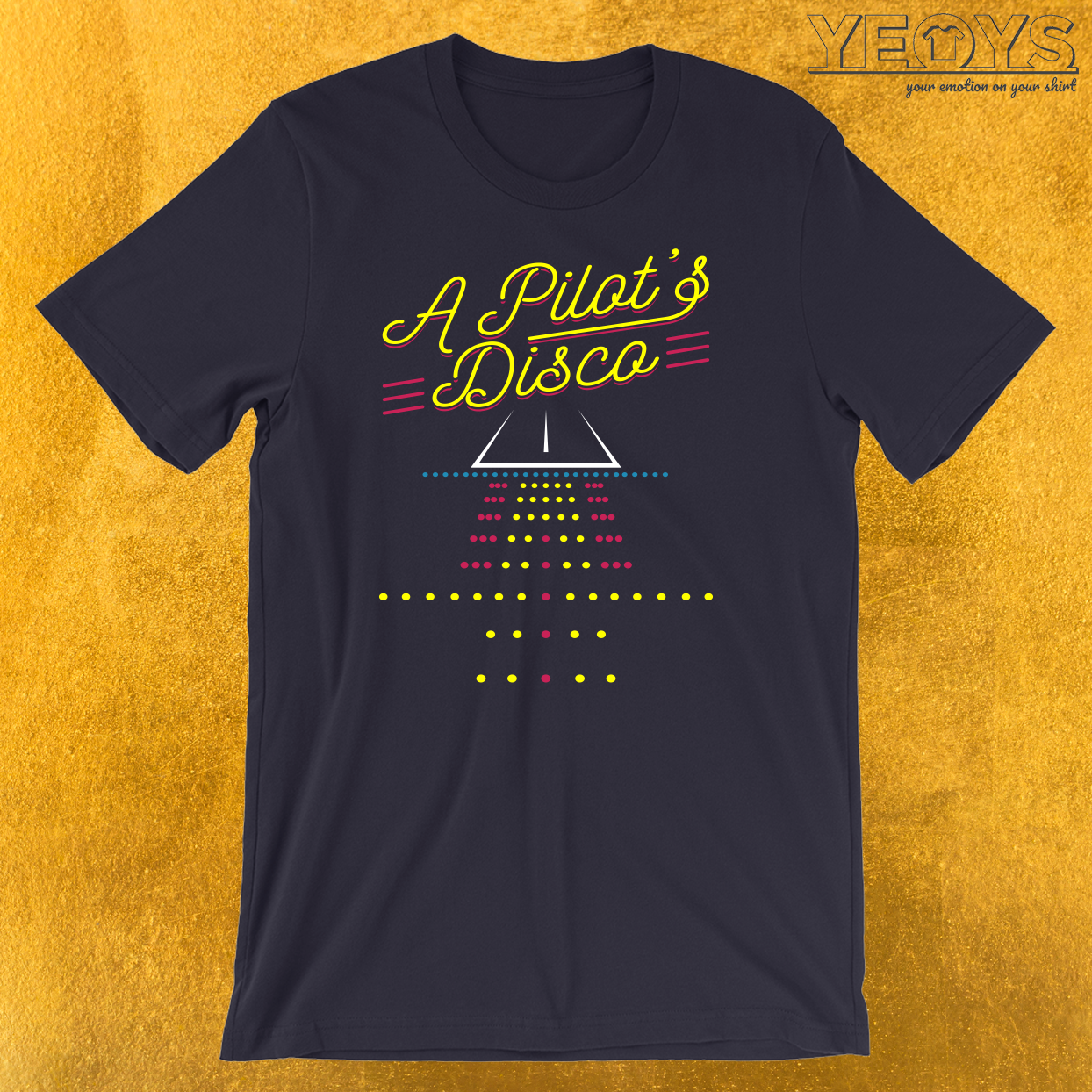 A Pilot's Disco Runway Landing Strip T-Shirt