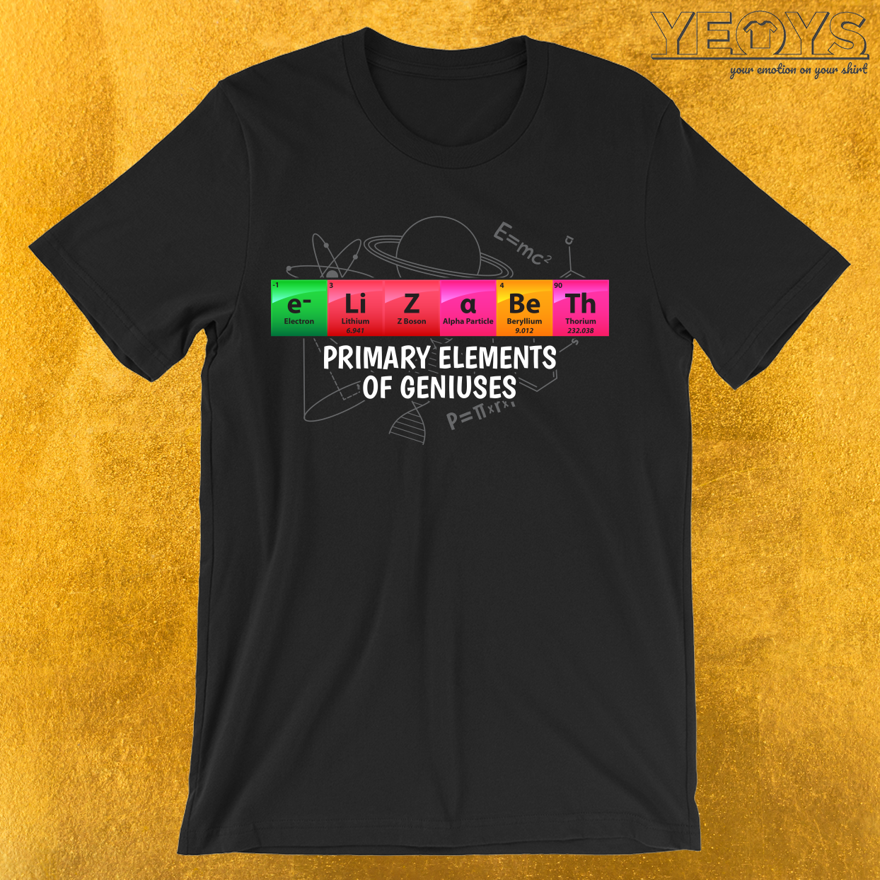 Elizabeth Primary Elements Of Geniuses T-Shirt