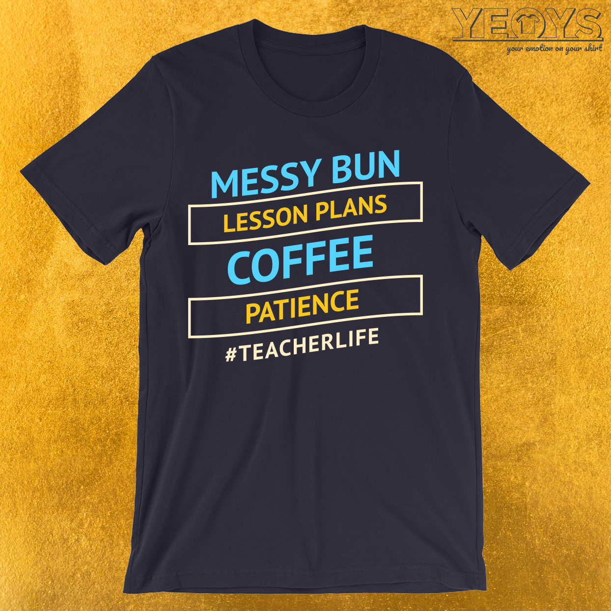 Messy Bun Teacher Life T-Shirt