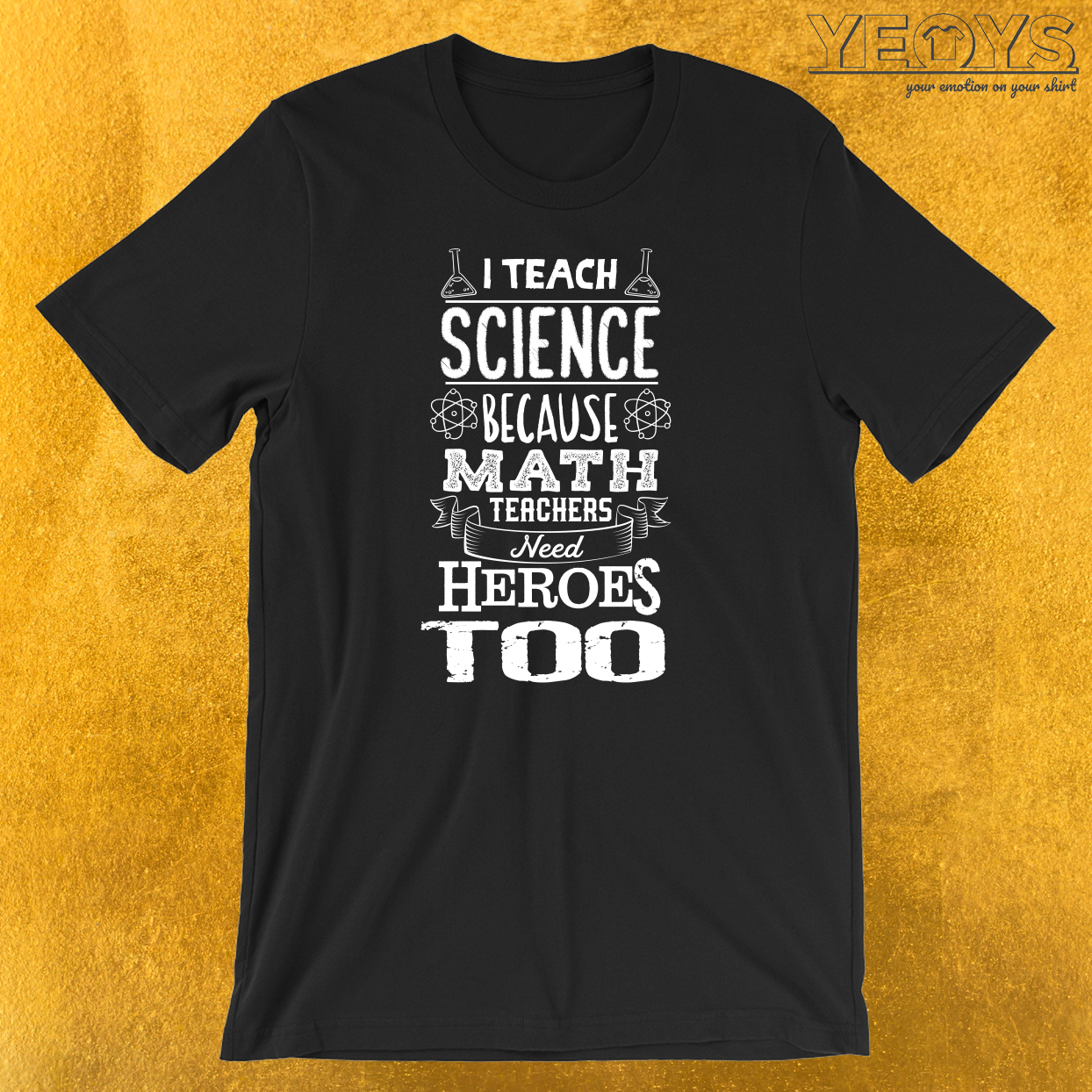 I Teach Science Math Teachers Need Heroes T-Shirt