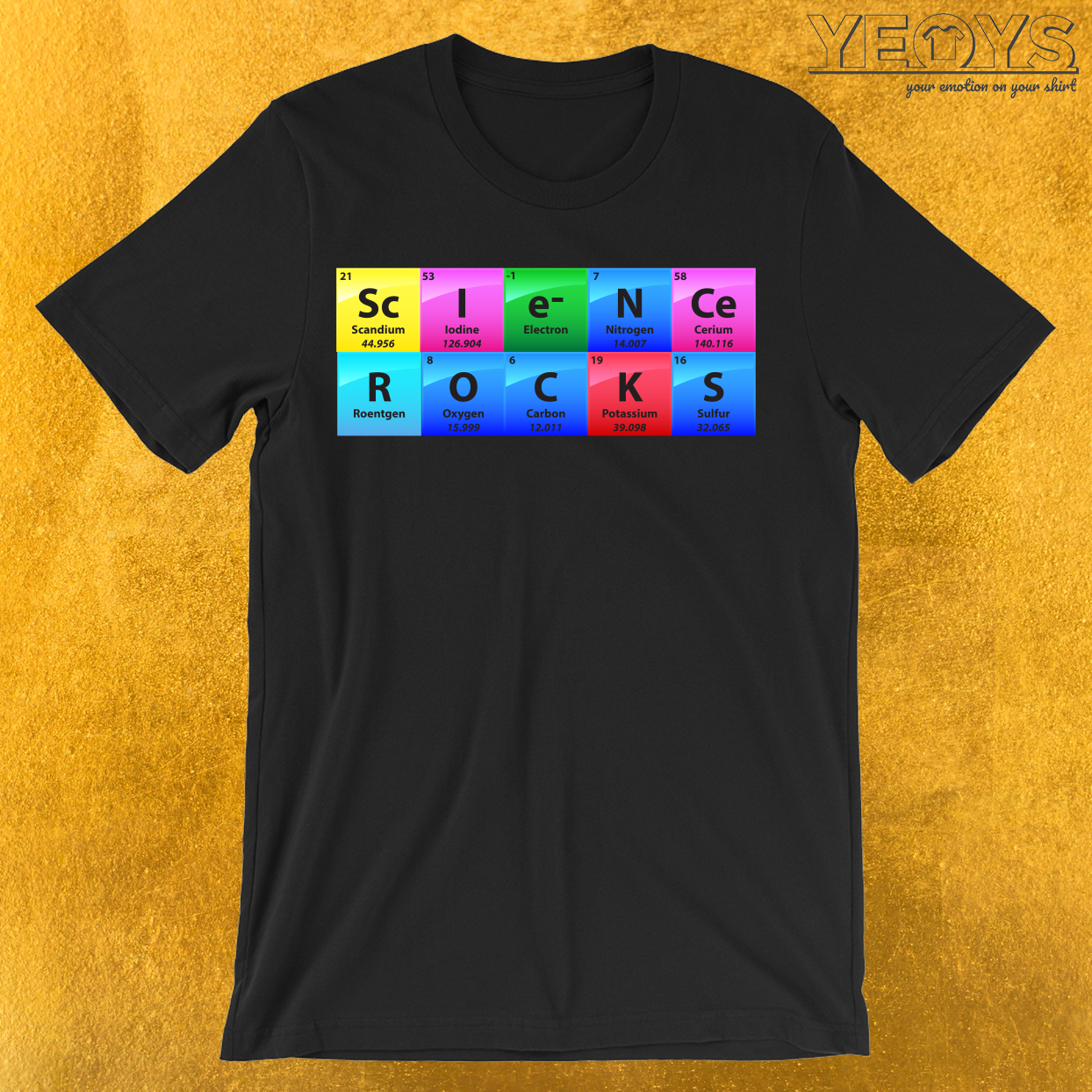 Science Rocks Periodic Table Of Elements T-Shirt