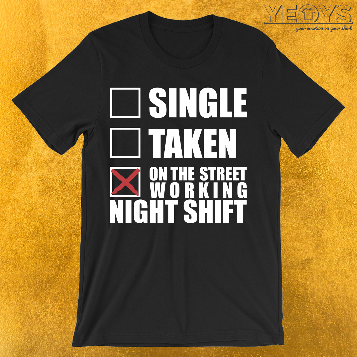 Taxi Driver Working Night Shift T-Shirt