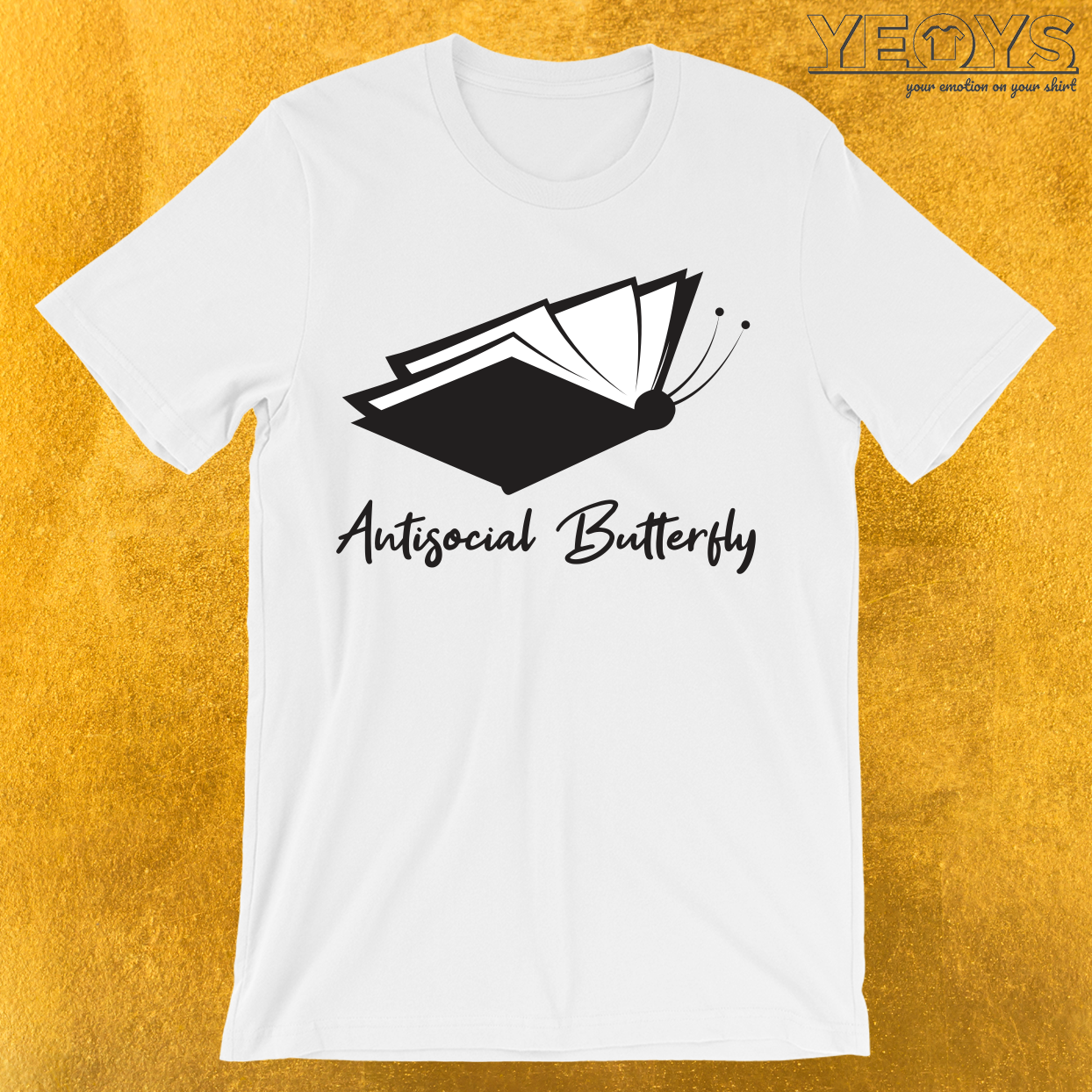 Antisocial Butterfly Book Lover T-Shirt