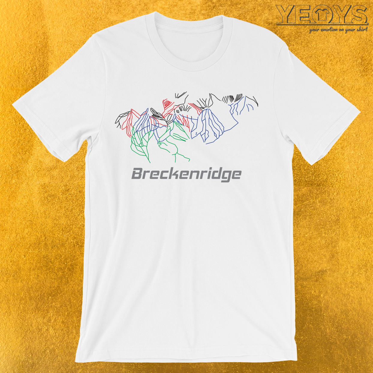 Breckenridge Colorado Ski Pist Map T-Shirt