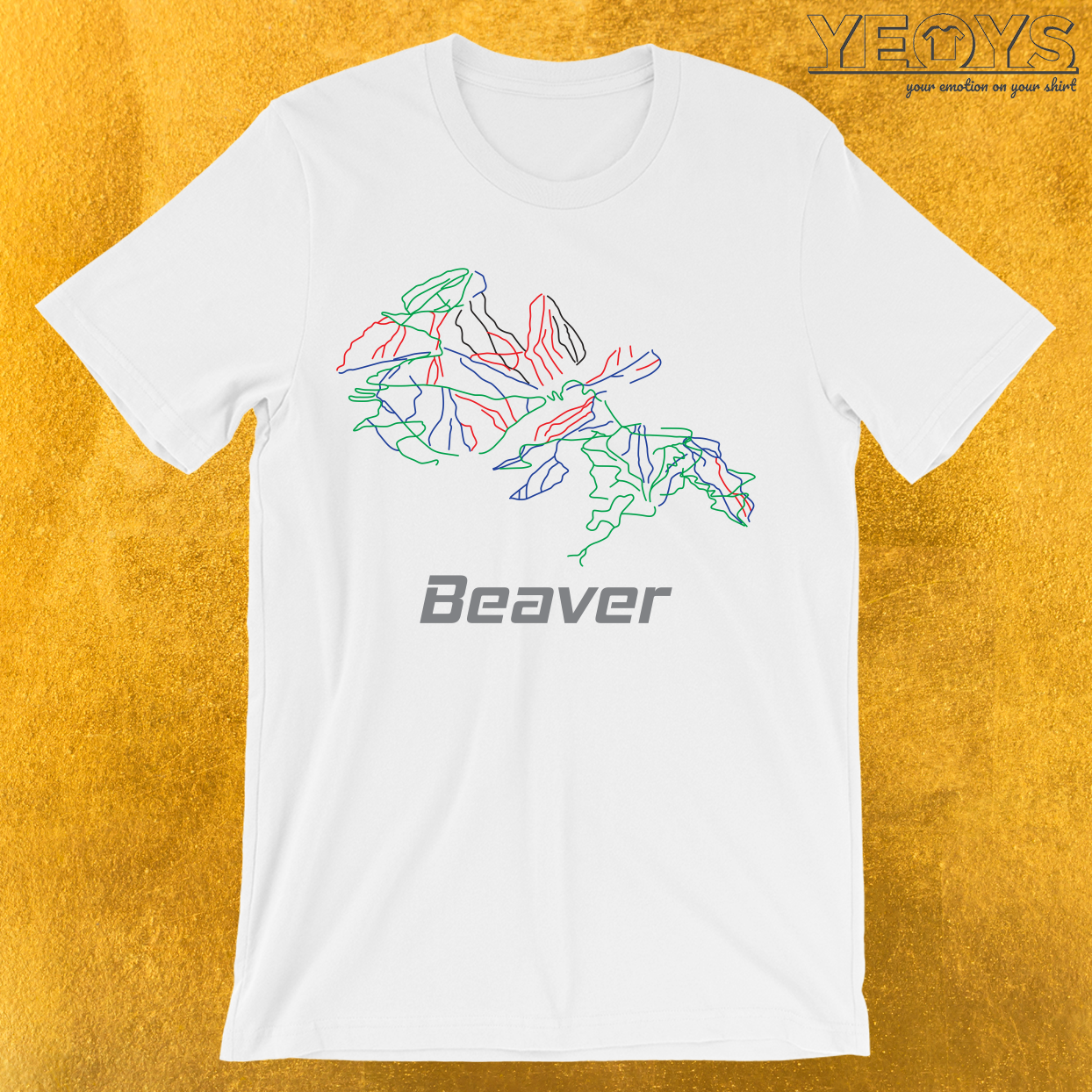 Beaver Colorado Ski Pist Map T-Shirt