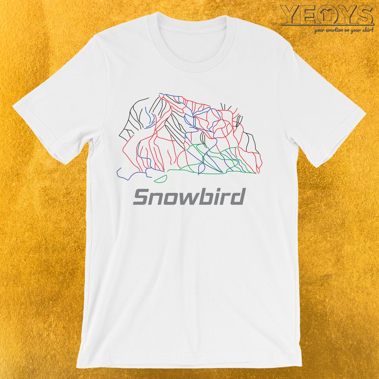 Snowbird Utah Ski Pist Map T-Shirt