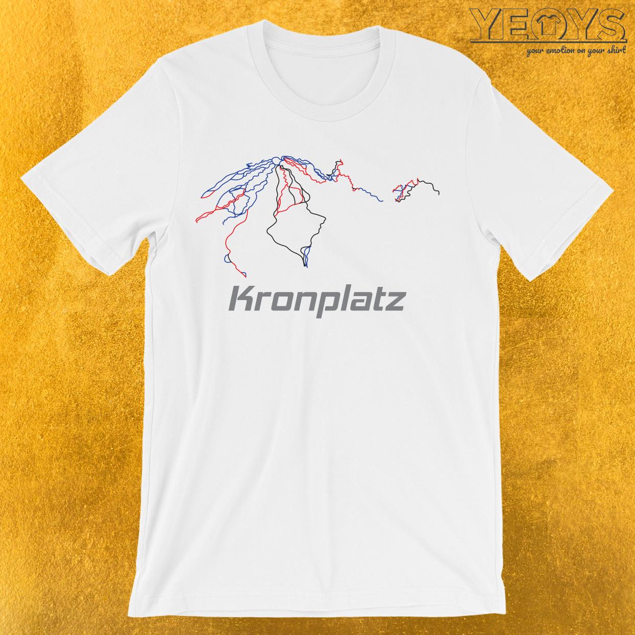 Kronplatz Südtirol Ski Piste Karte T-Shirt