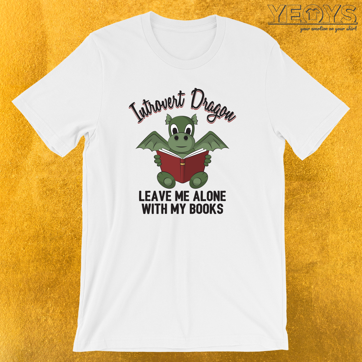 Introvert Dragon Leave Me Alone T-Shirt