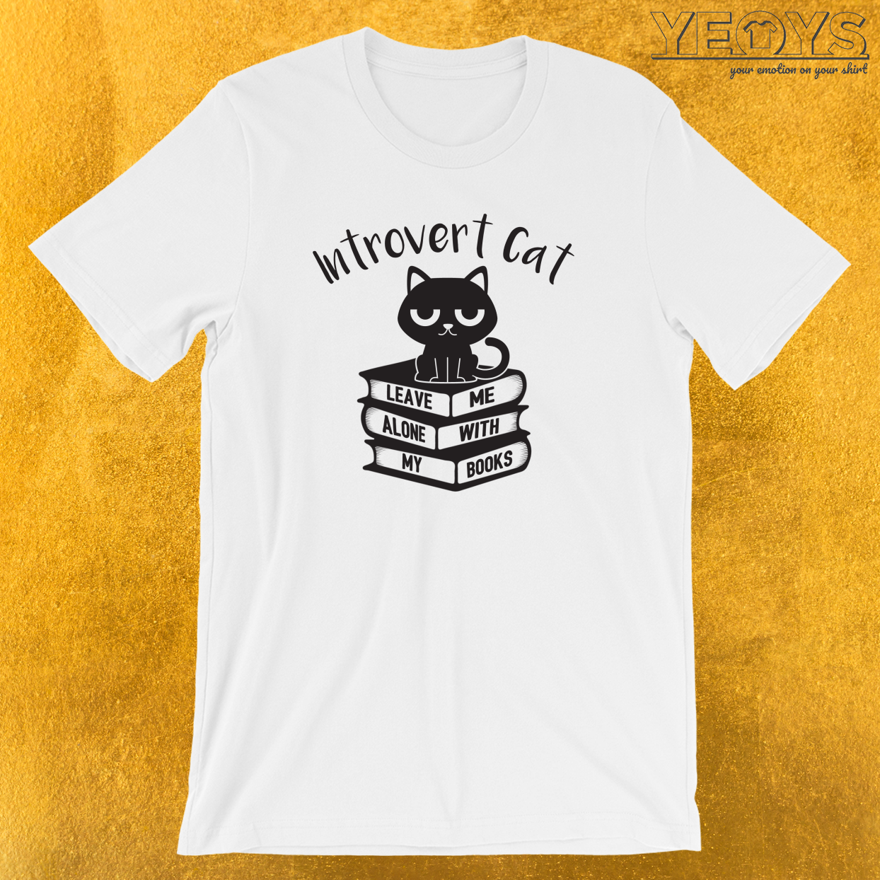 Introvert Cat Leave Me Alone T-Shirt