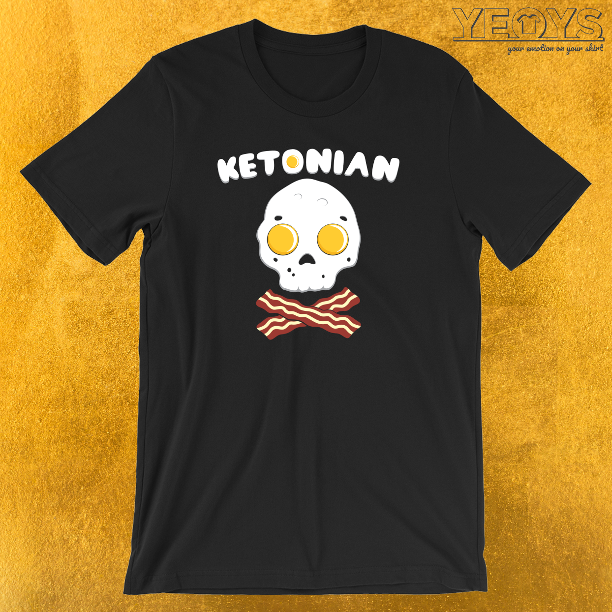 Ketonian Skull Made Of Eggs And Bacon T-Shirt