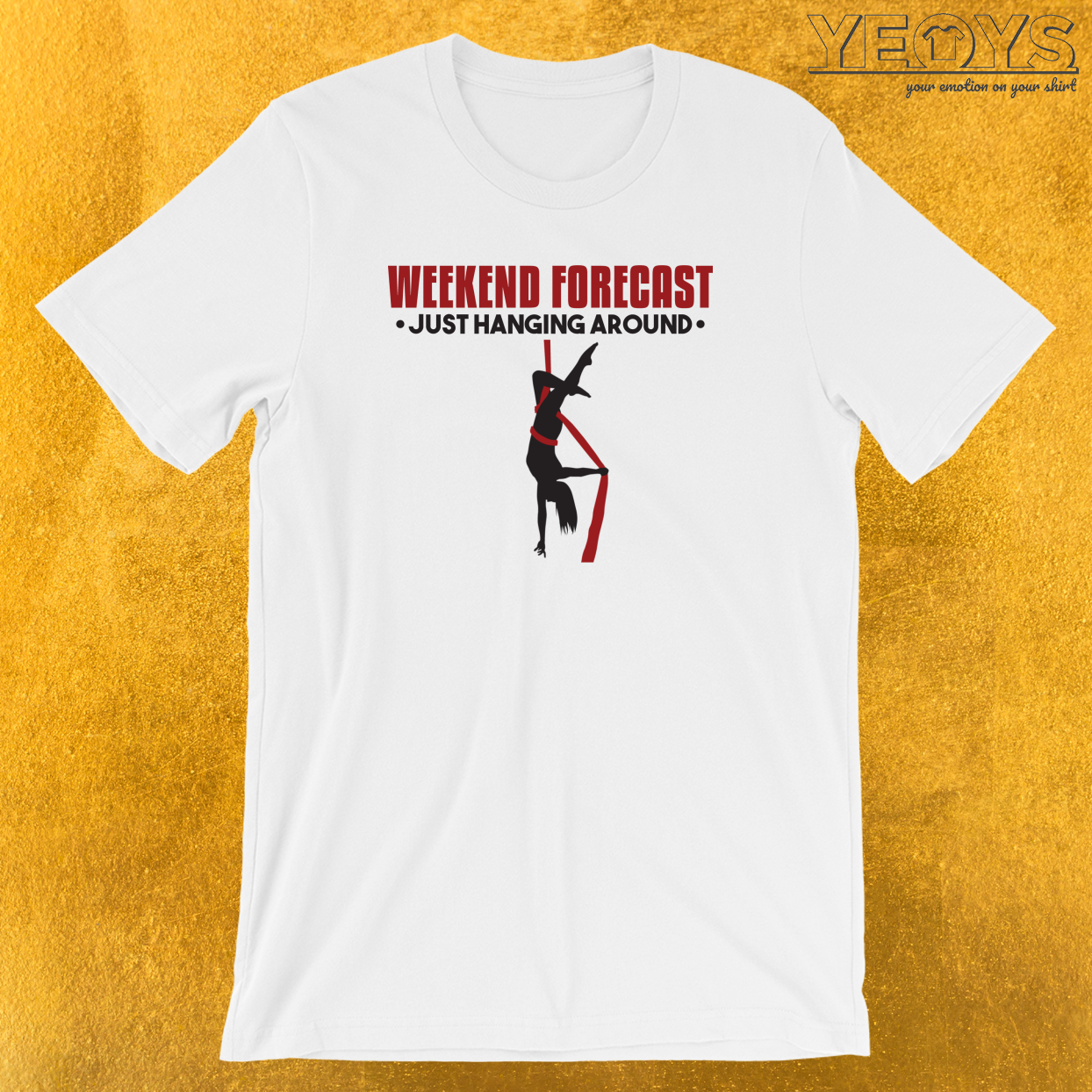 Weekend Forecast Just Hanging Around Aerialist T-Shirt