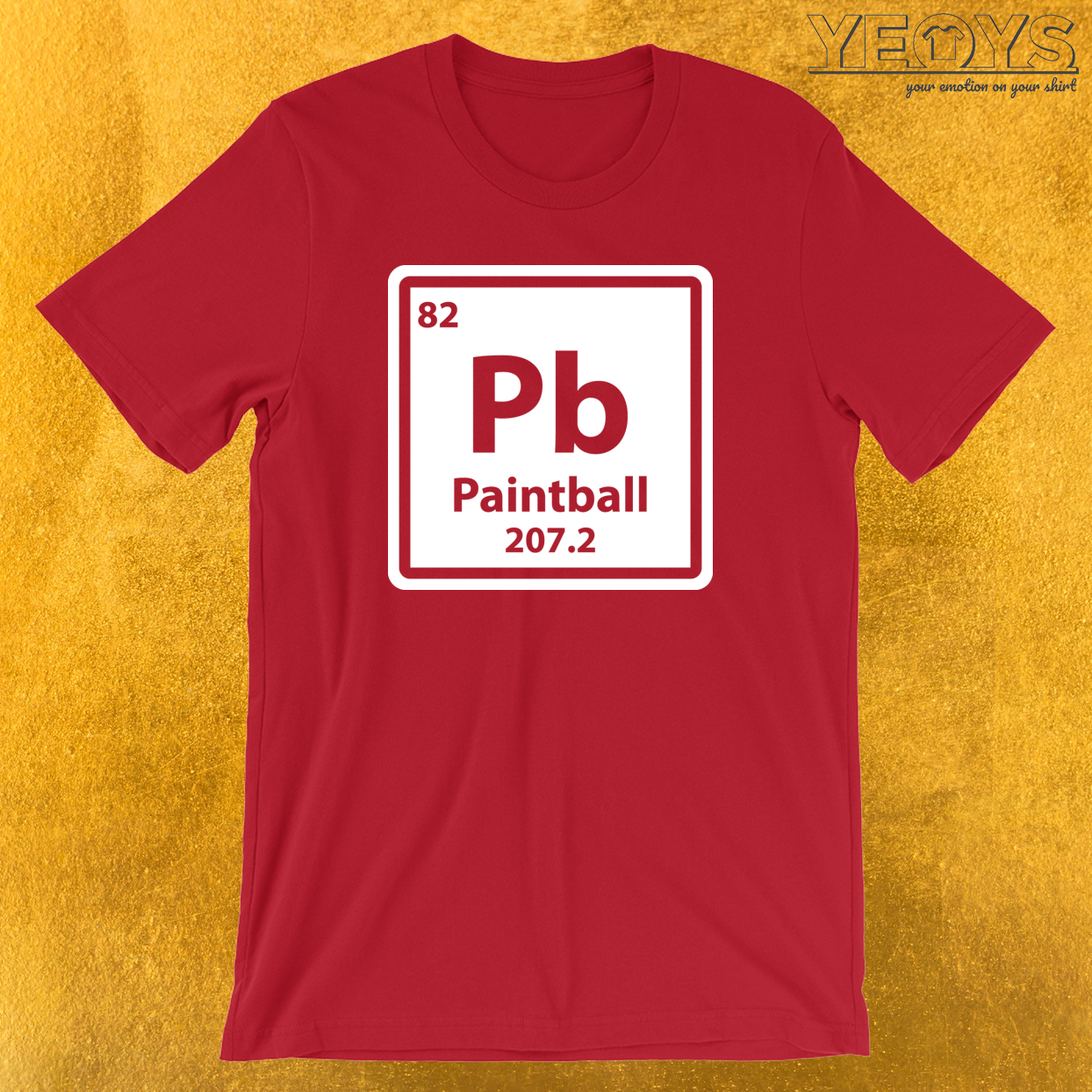 Periodic Table Pb Paintball T-Shirt