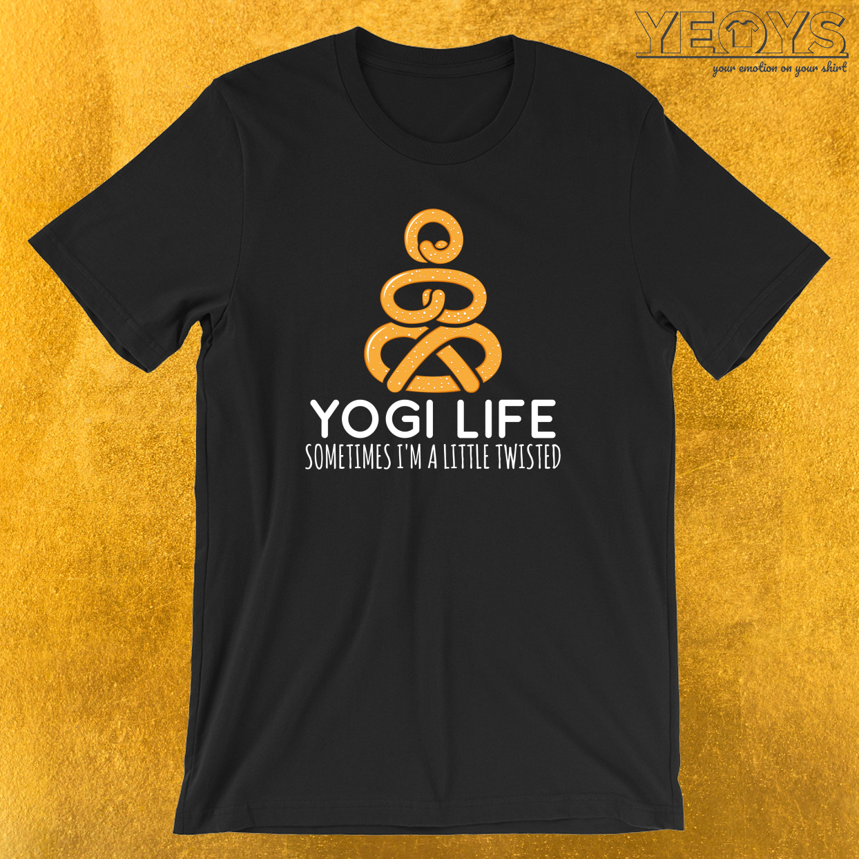 Yogi Life Sometimes I'm A Little Twisted T-Shirt