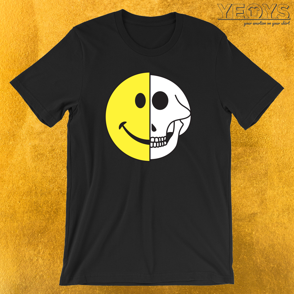 Smiling Graphic Icon Skull T-Shirt