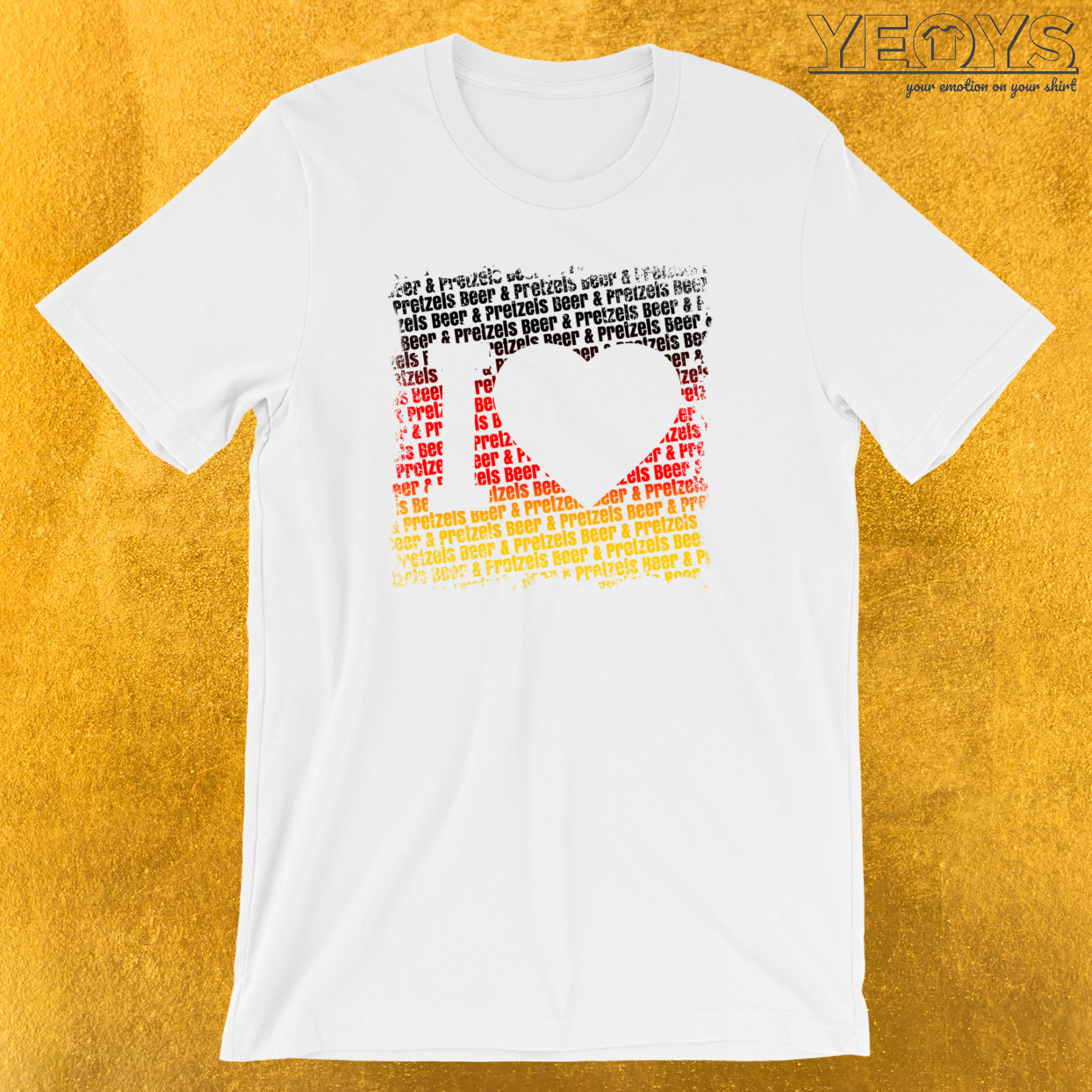 I Love Beer And Pretzels T-Shirt
