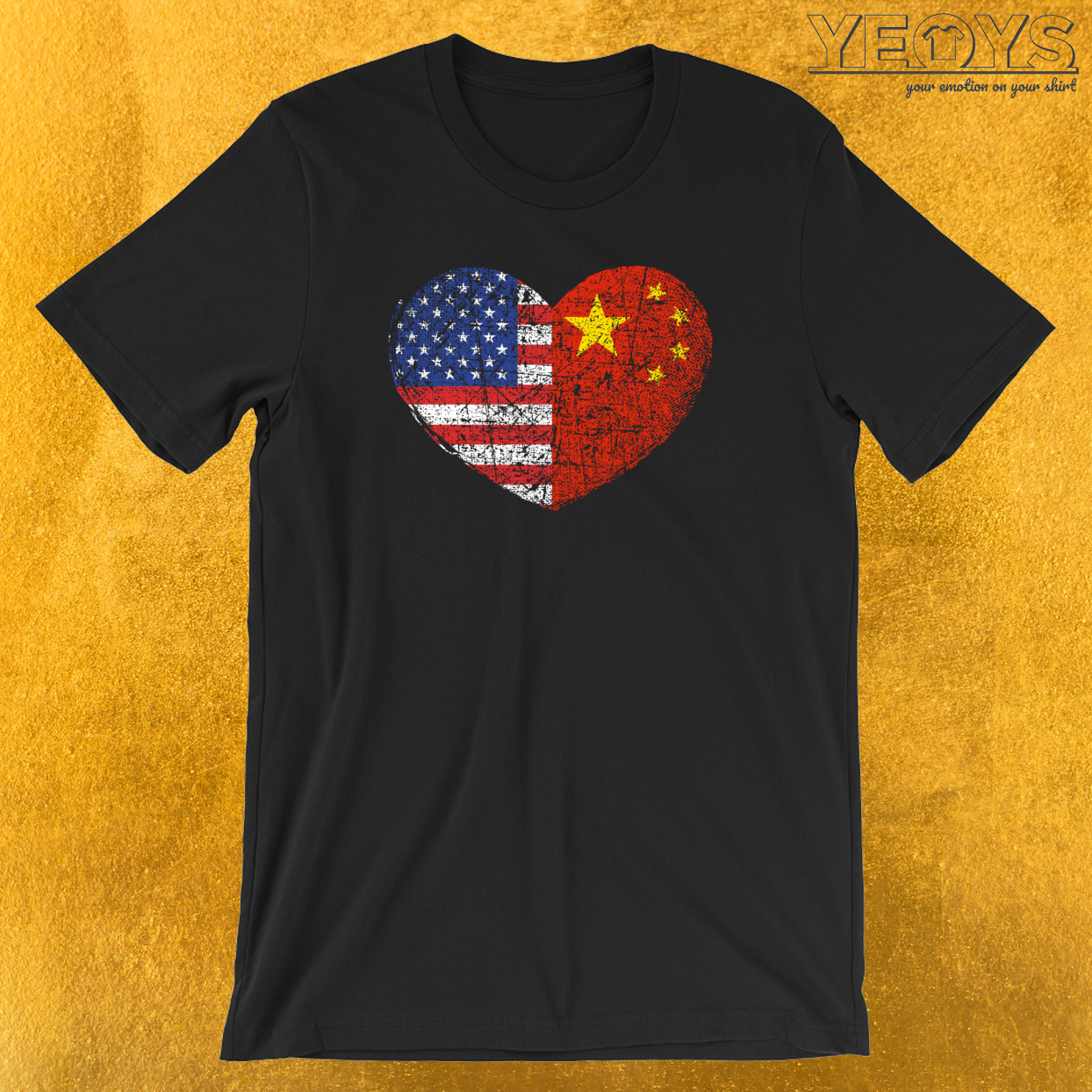 USA China Heart T-Shirt
