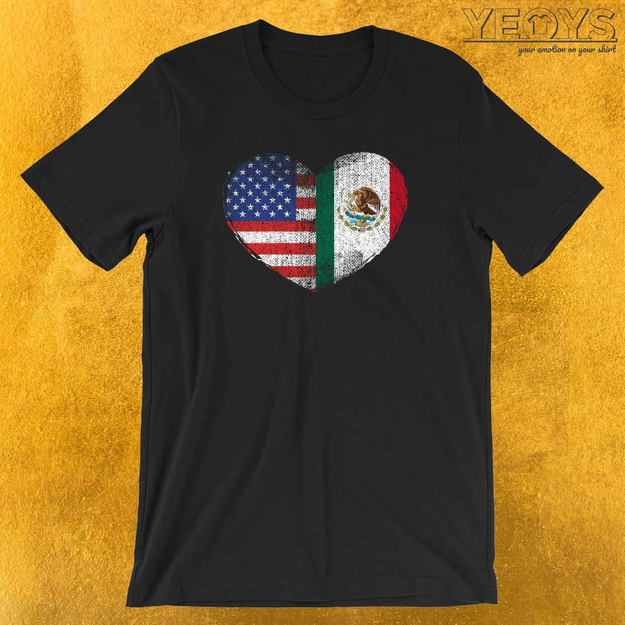 USA Mexico Heart T-Shirt