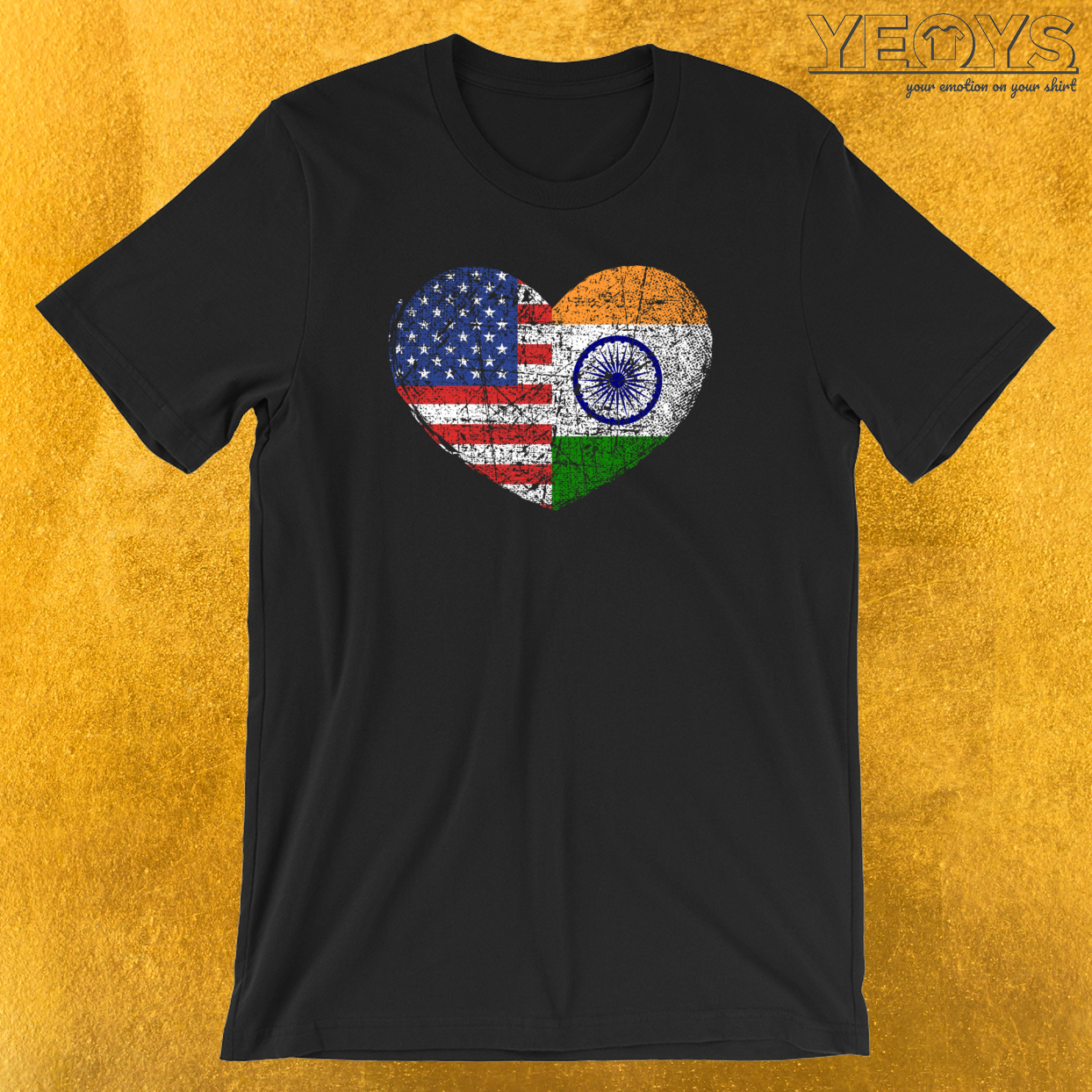 USA India Heart T-Shirt