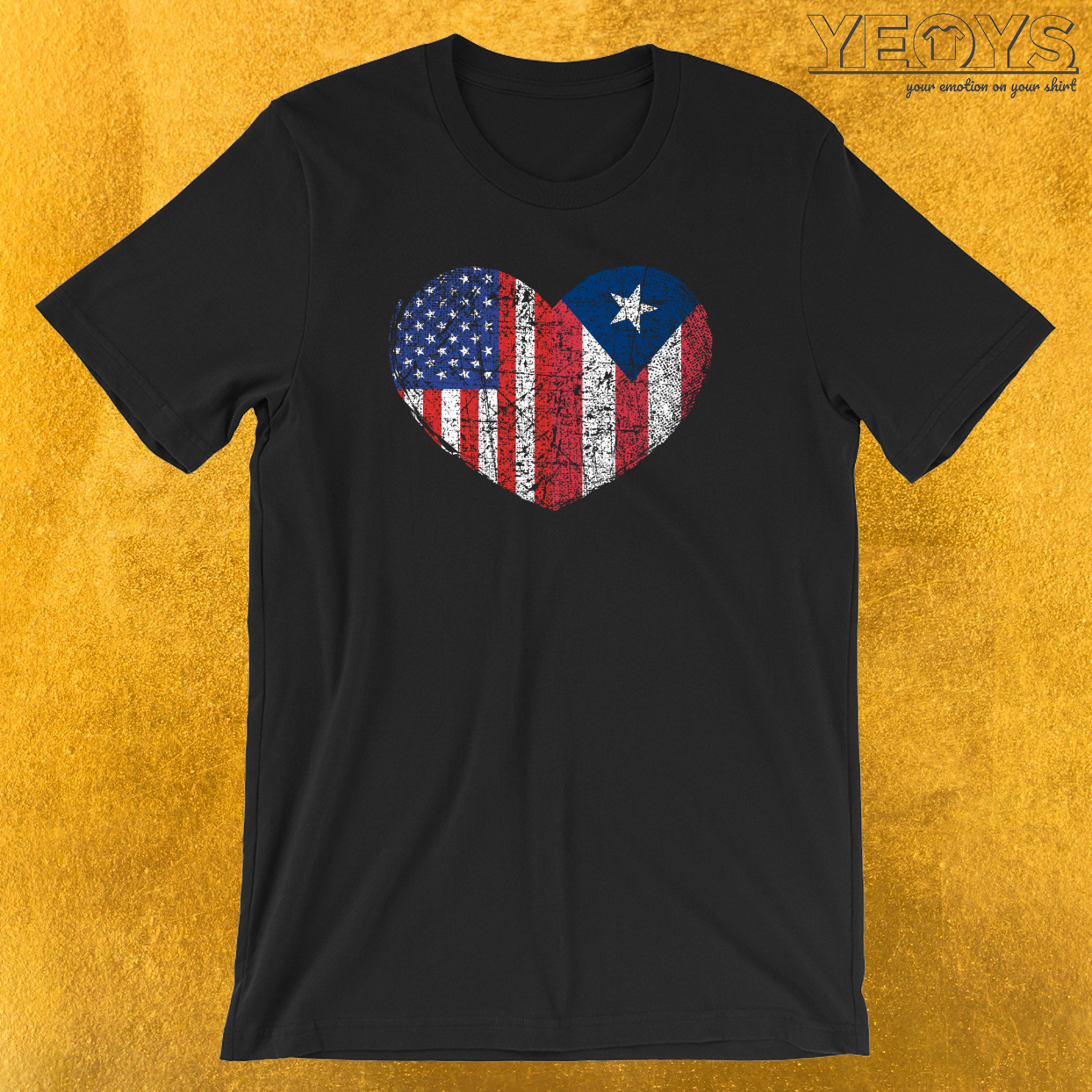 USA Puerto Rico Heart T-Shirt